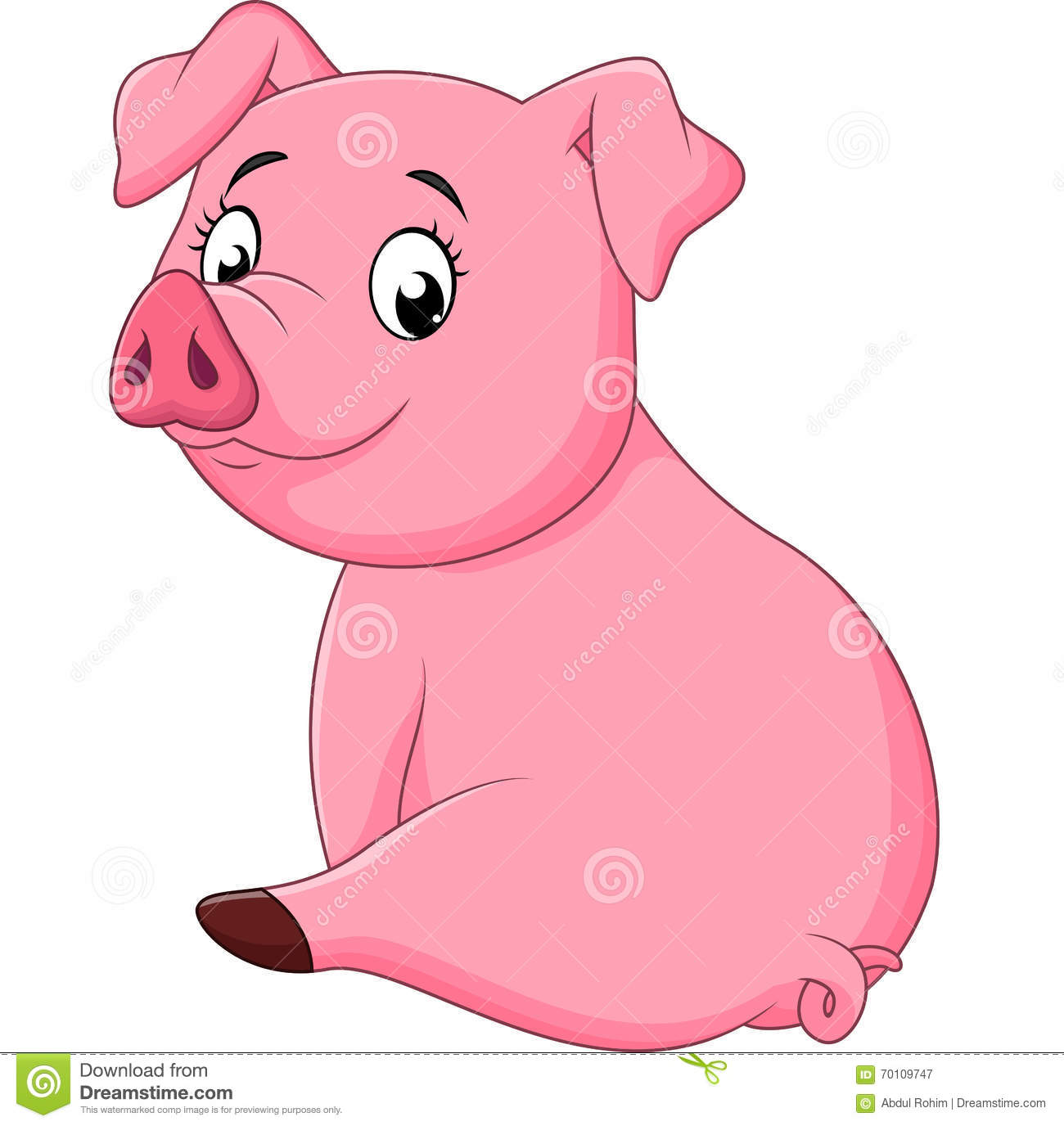 how to draw an adorable pig
