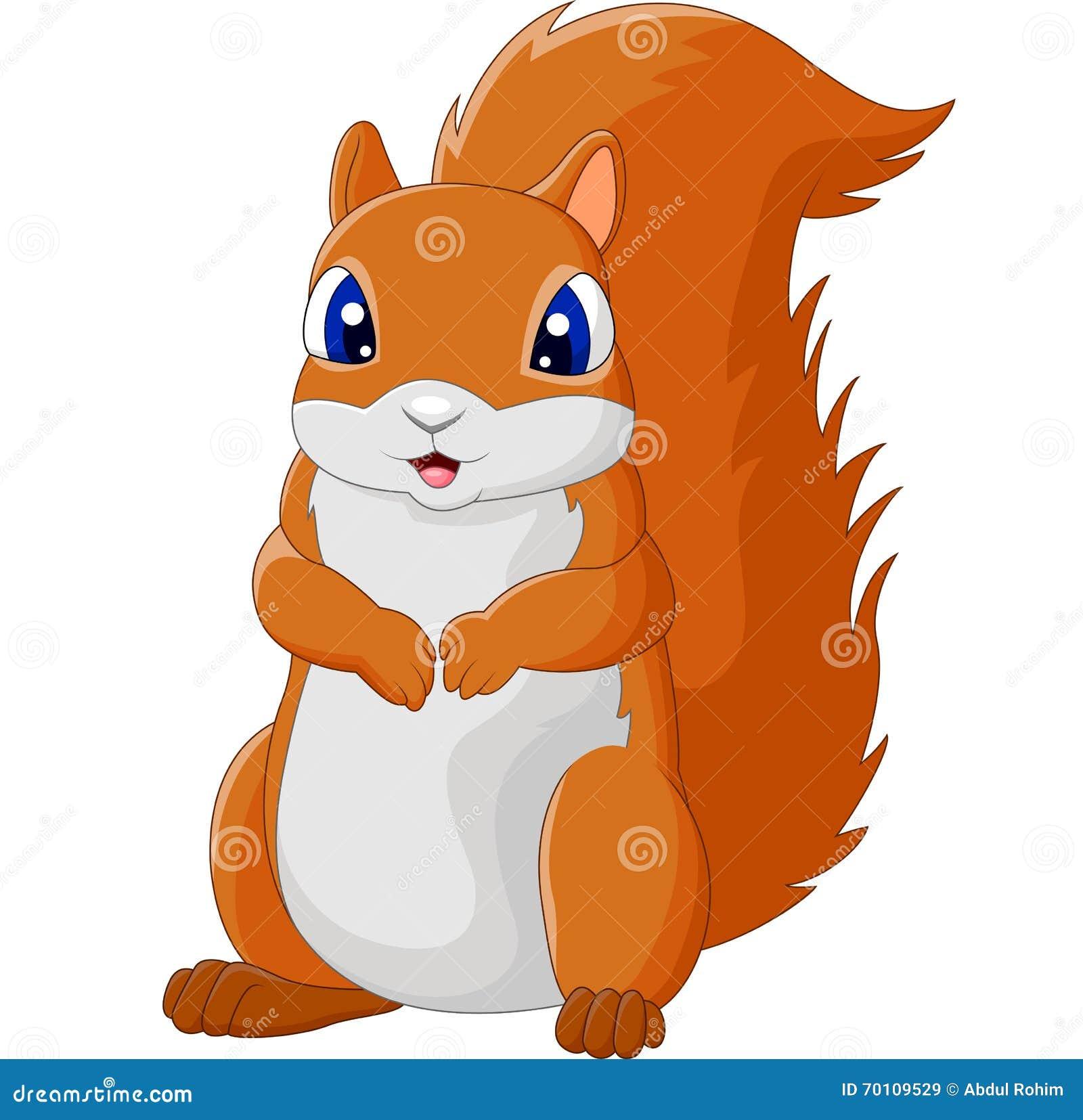 Cartoon Adorable Squirrel Stock Vector Image 70109529