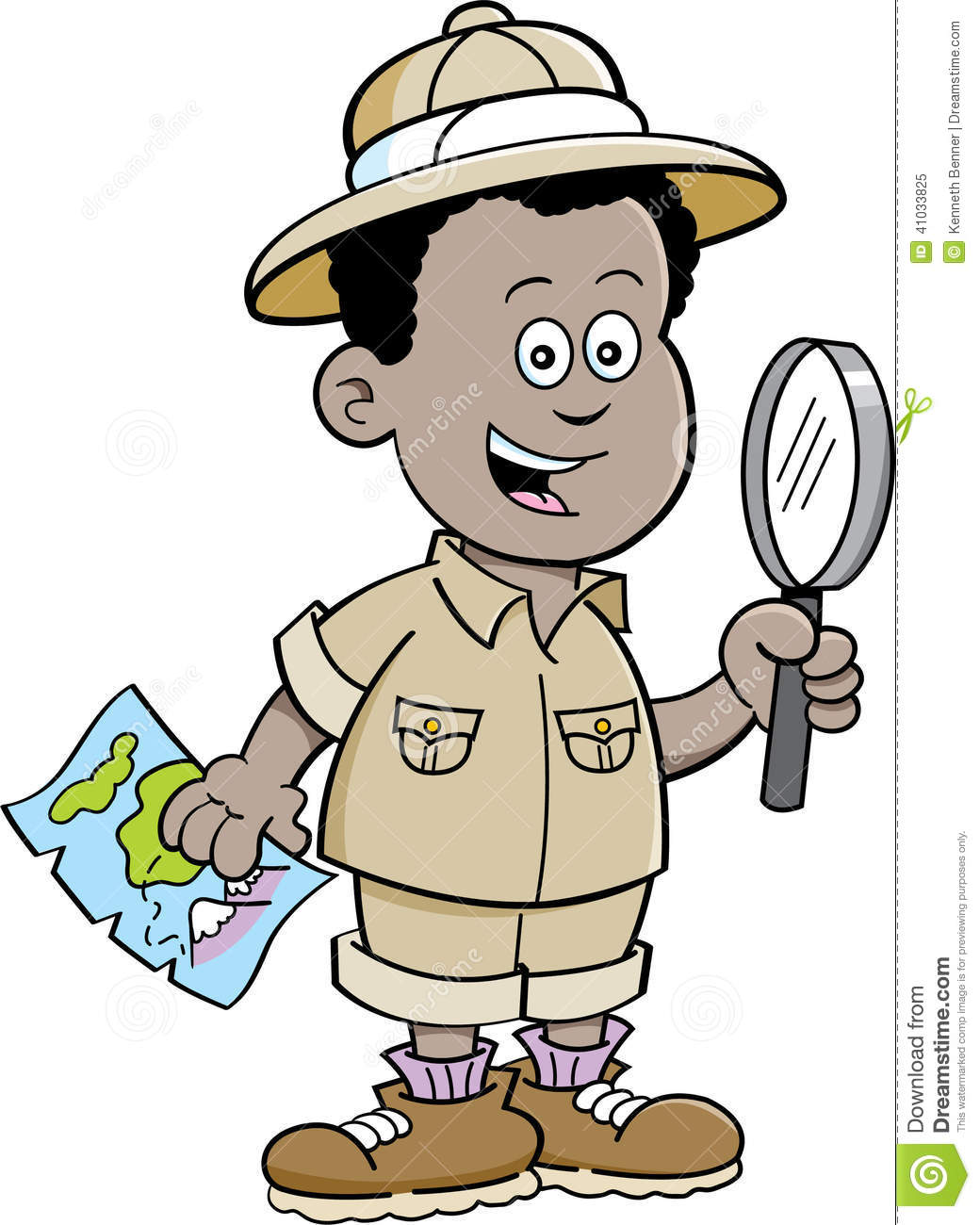 cartoon african boy explorer stock vector illustration magnifying glass clipart indesign magnifying glass clipart transparent