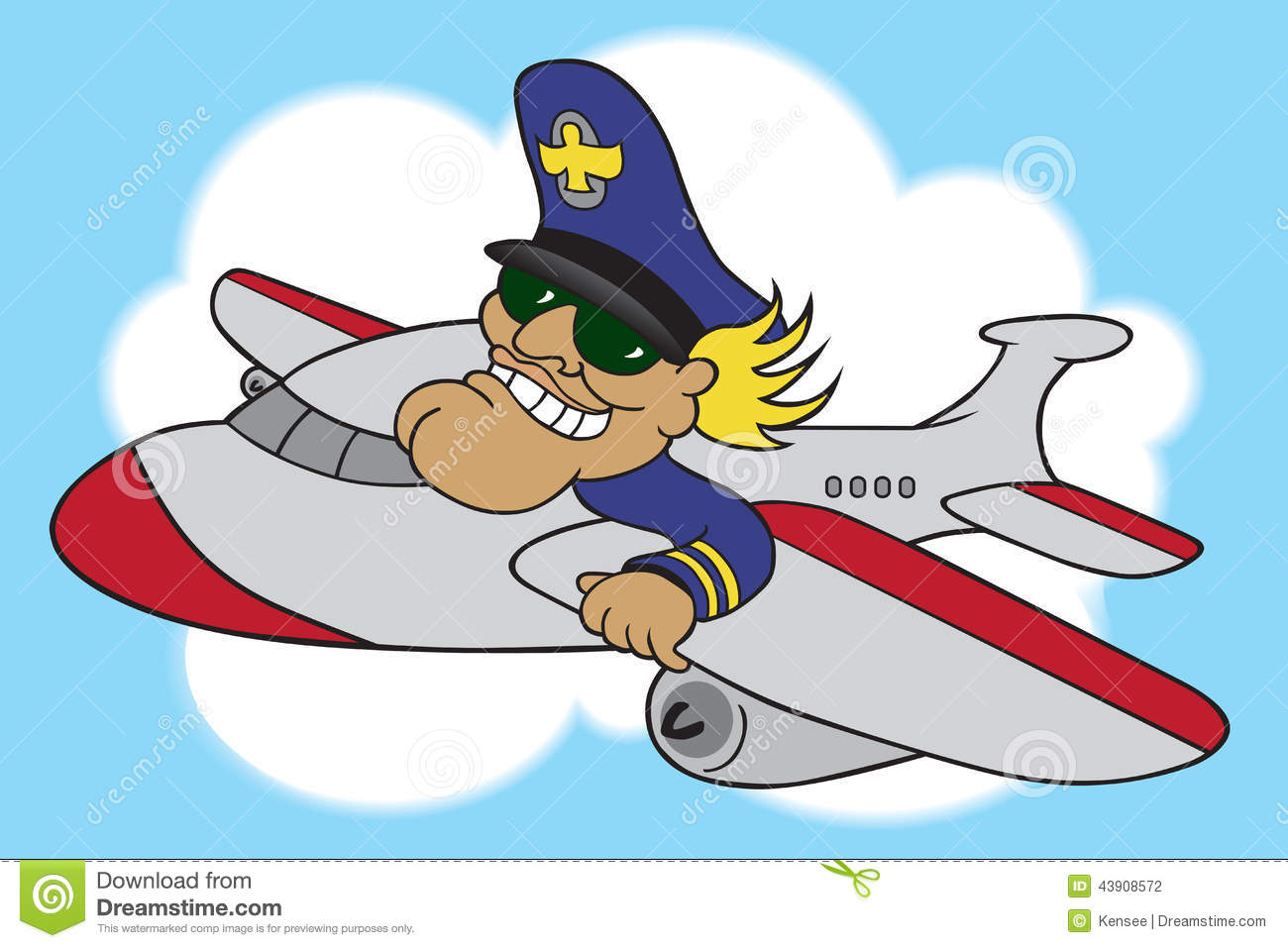 Cartoon Airline Pilot Stock Vector Image 43908572