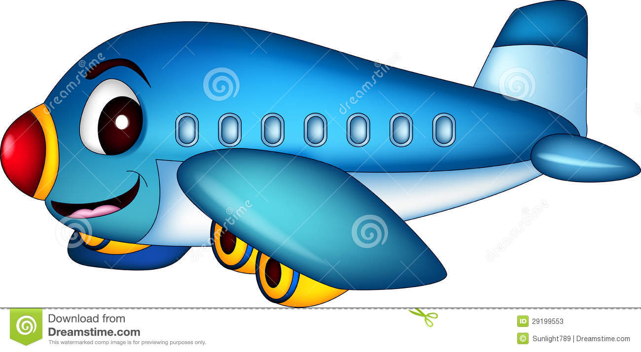 Cartoon Airplane Flying Stock Illustration Illustration Of Cargo