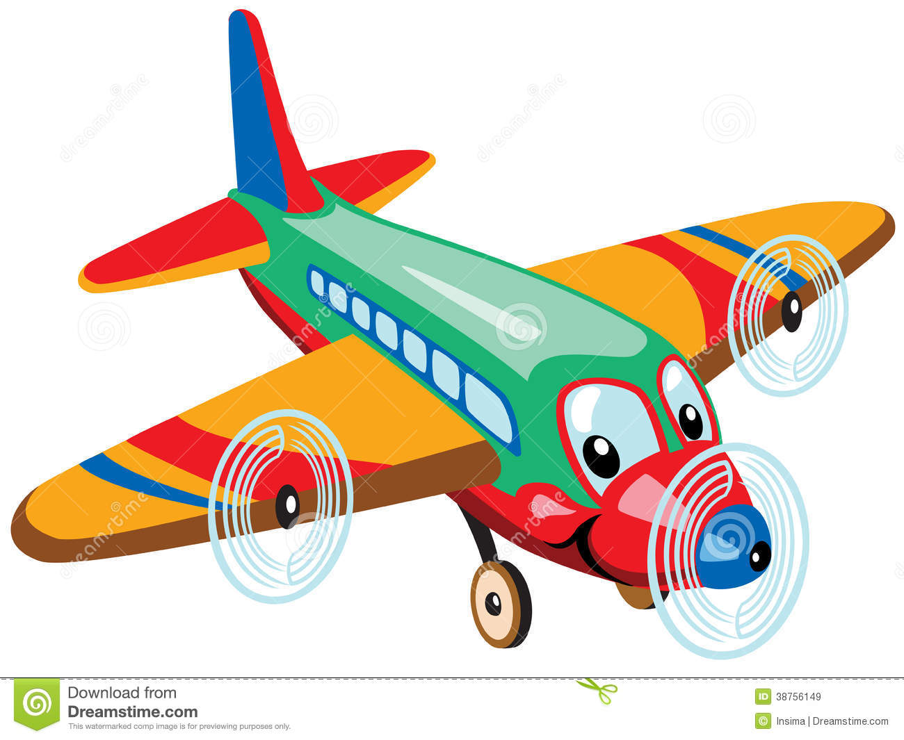 Cartoon airplane royalty free stock images image