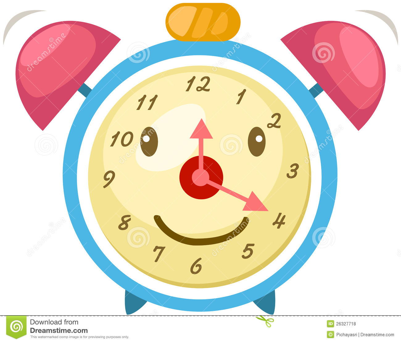 Cartoon Alarm Clock Royalty Free Stock Photos Image