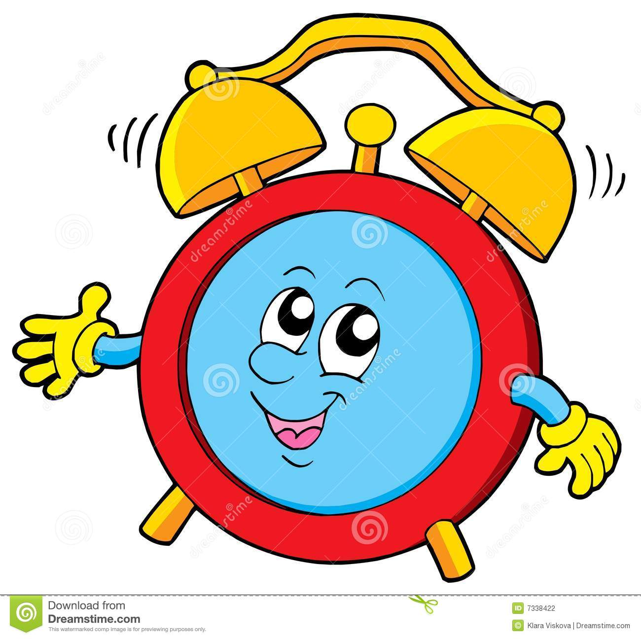 Cartoon Alarm Clock Stock Photography - Image: 7338422
