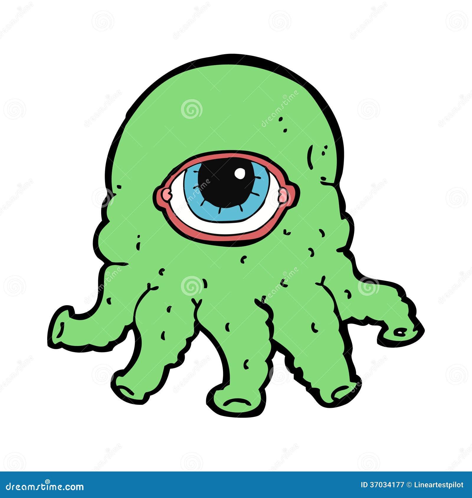 cartoon alien head royalty free stock photography image 37034177