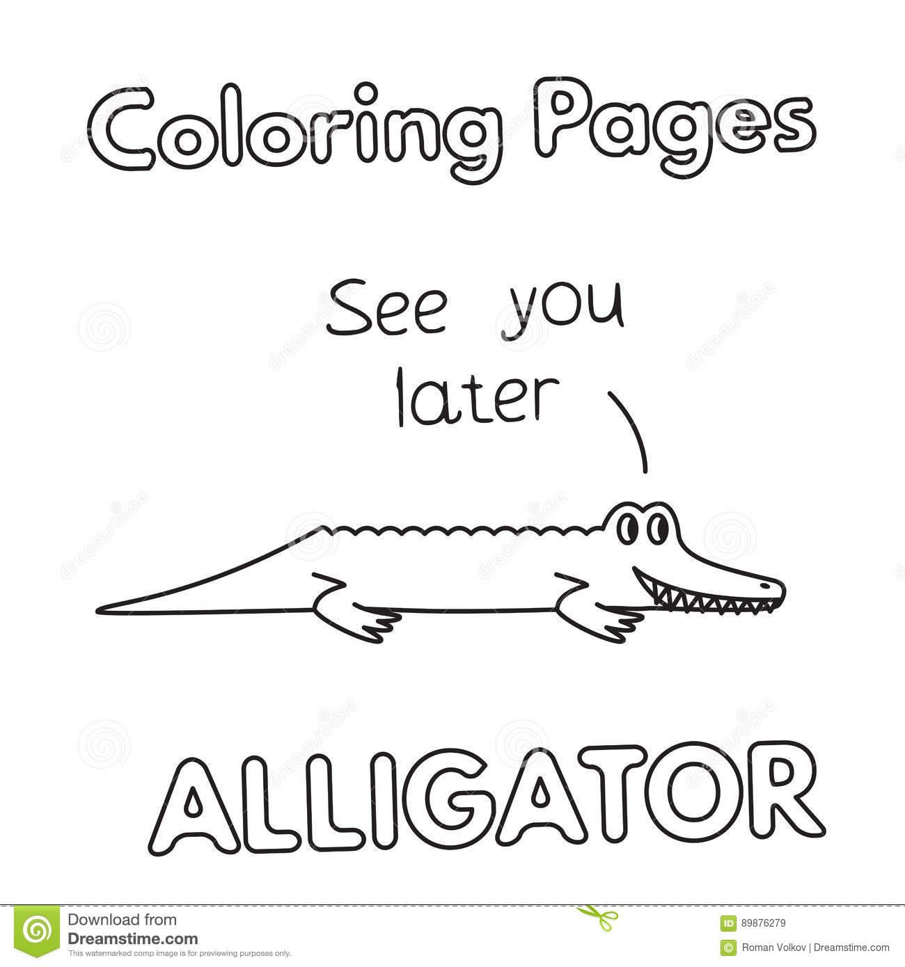 Alligator Coloring Pages - StPeteFest.org   1390x1300