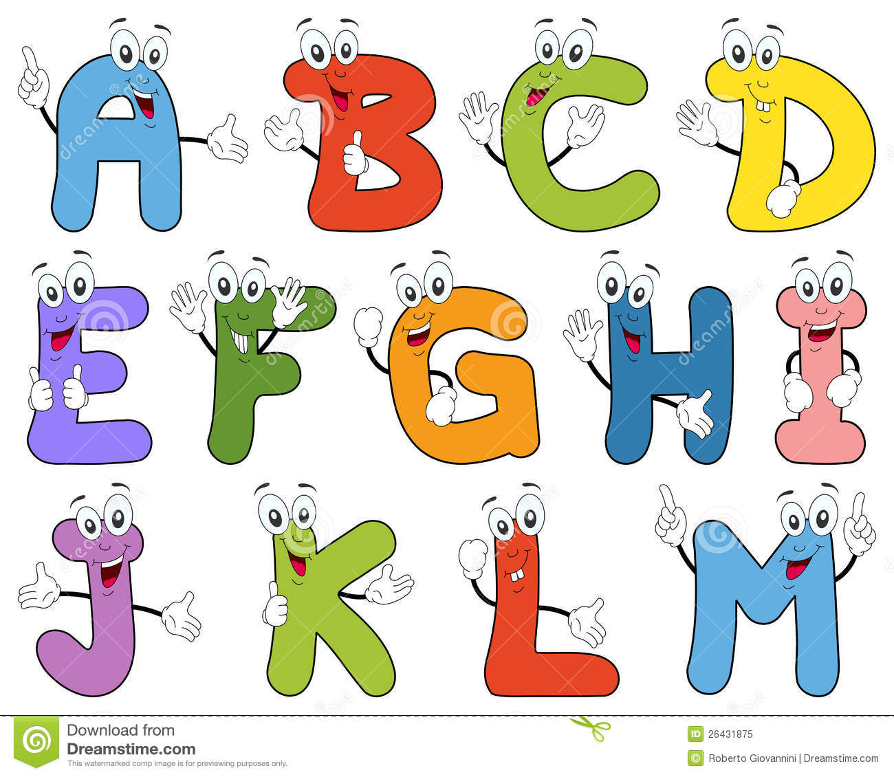 Cartoon Characters Letter Z : Cartoon alphabet characters a m stock vector