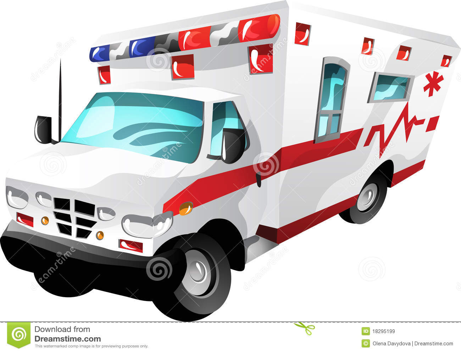 Cartoon Ambulance Stock Vector Illustration Of Equipment 18295199