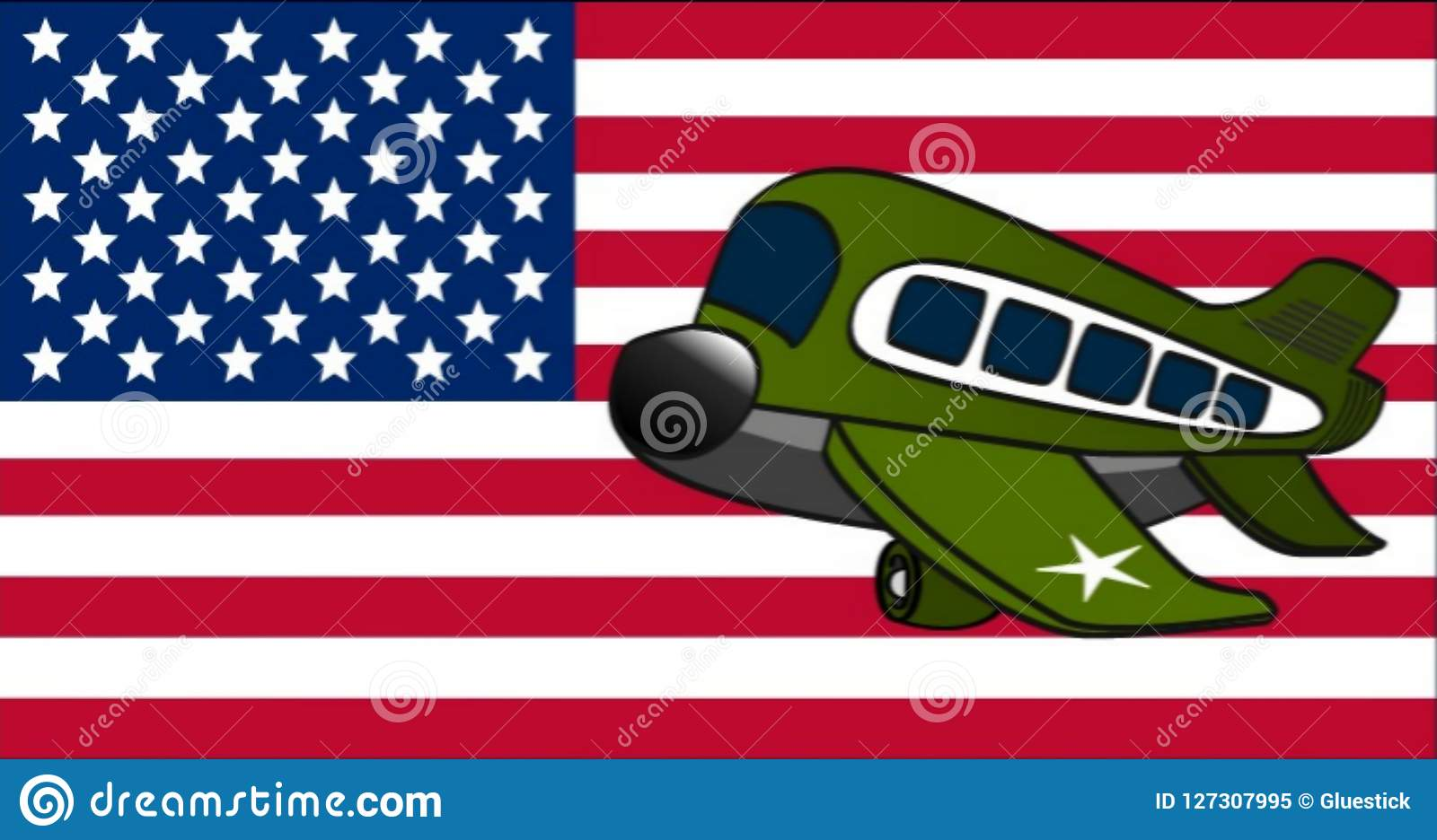 Military United States Army Plane Stock Illustration