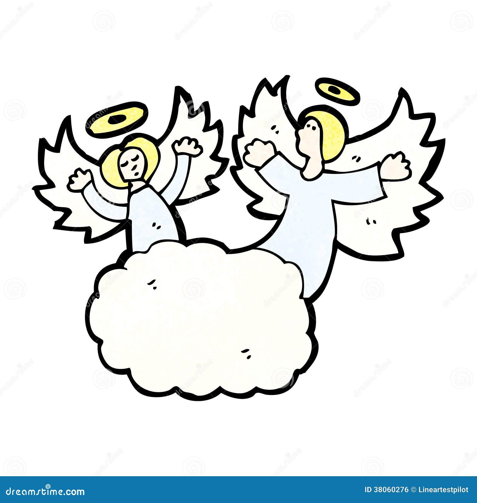 1300 x 1390 jpeg 113kB, Cartoon Angels In Heaven Royalty Free Stock ...