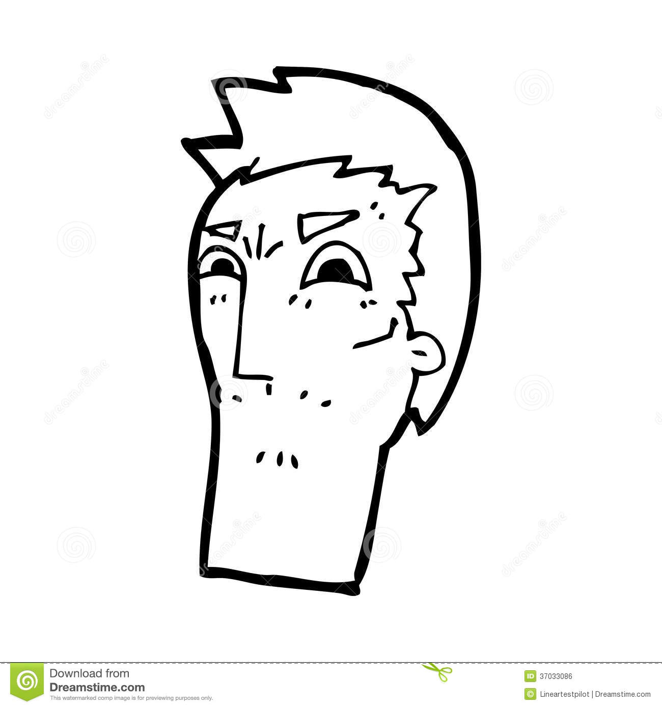 Line Drawing Angry Face : Cartoon angry face stock illustration of