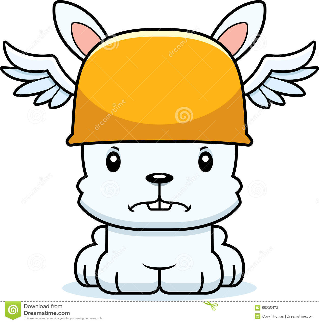Cartoon Angry Hermes Bunny stock vector. Illustration of ...