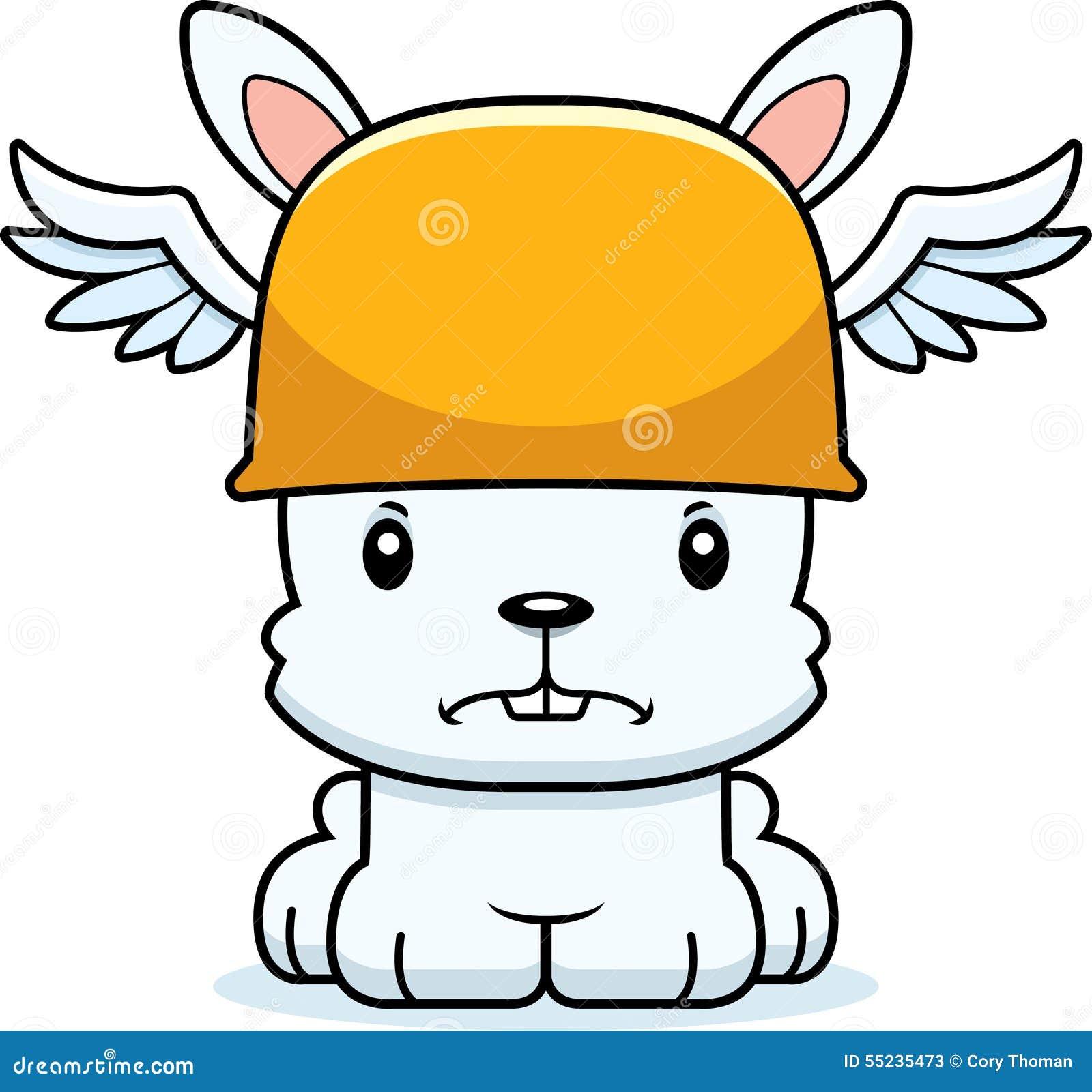 Cartoon Angry Hermes Bunny stock vector. Image of ...