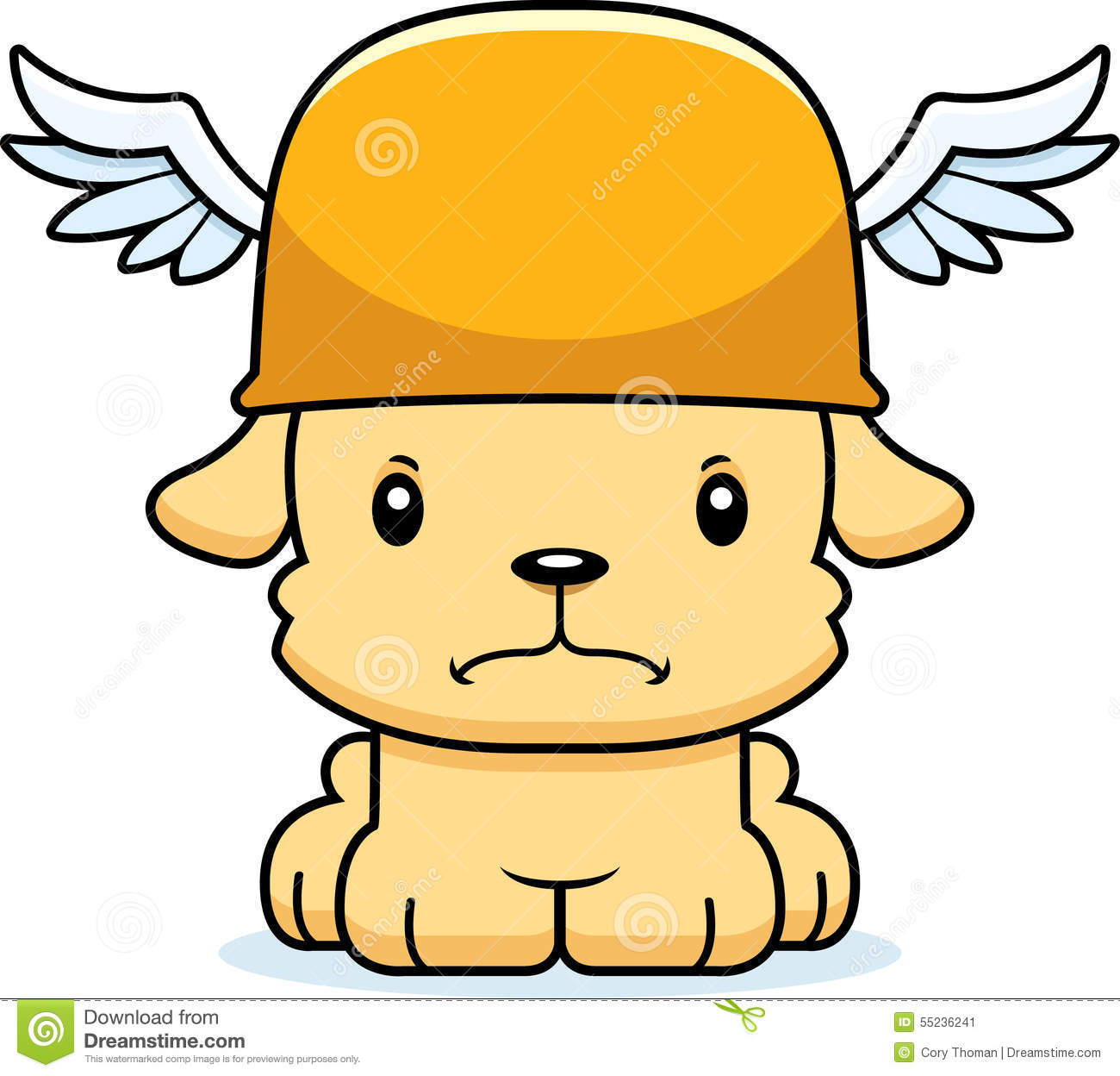 Cartoon Angry Hermes Puppy Stock Vector - Image: 55236241