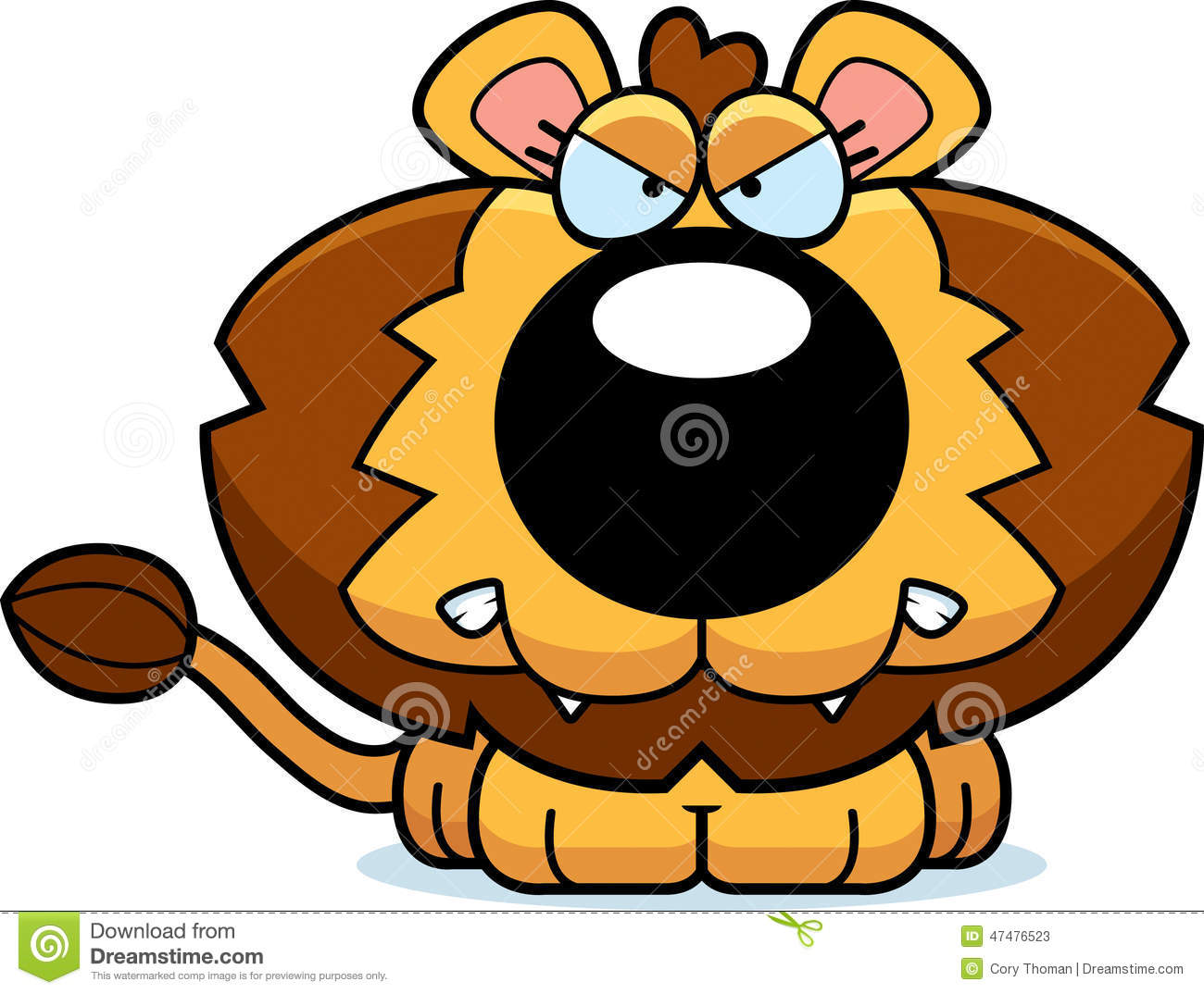 Angry lion cartoon stock vector. Illustration of cute - 48036789 for Angry Lion Animation  197uhy