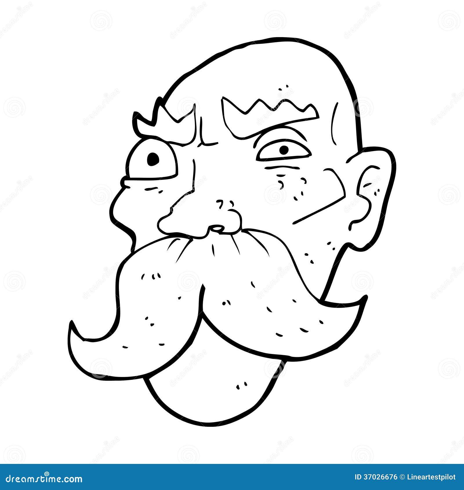 Angry Old Man Drawing cartoon angry old man