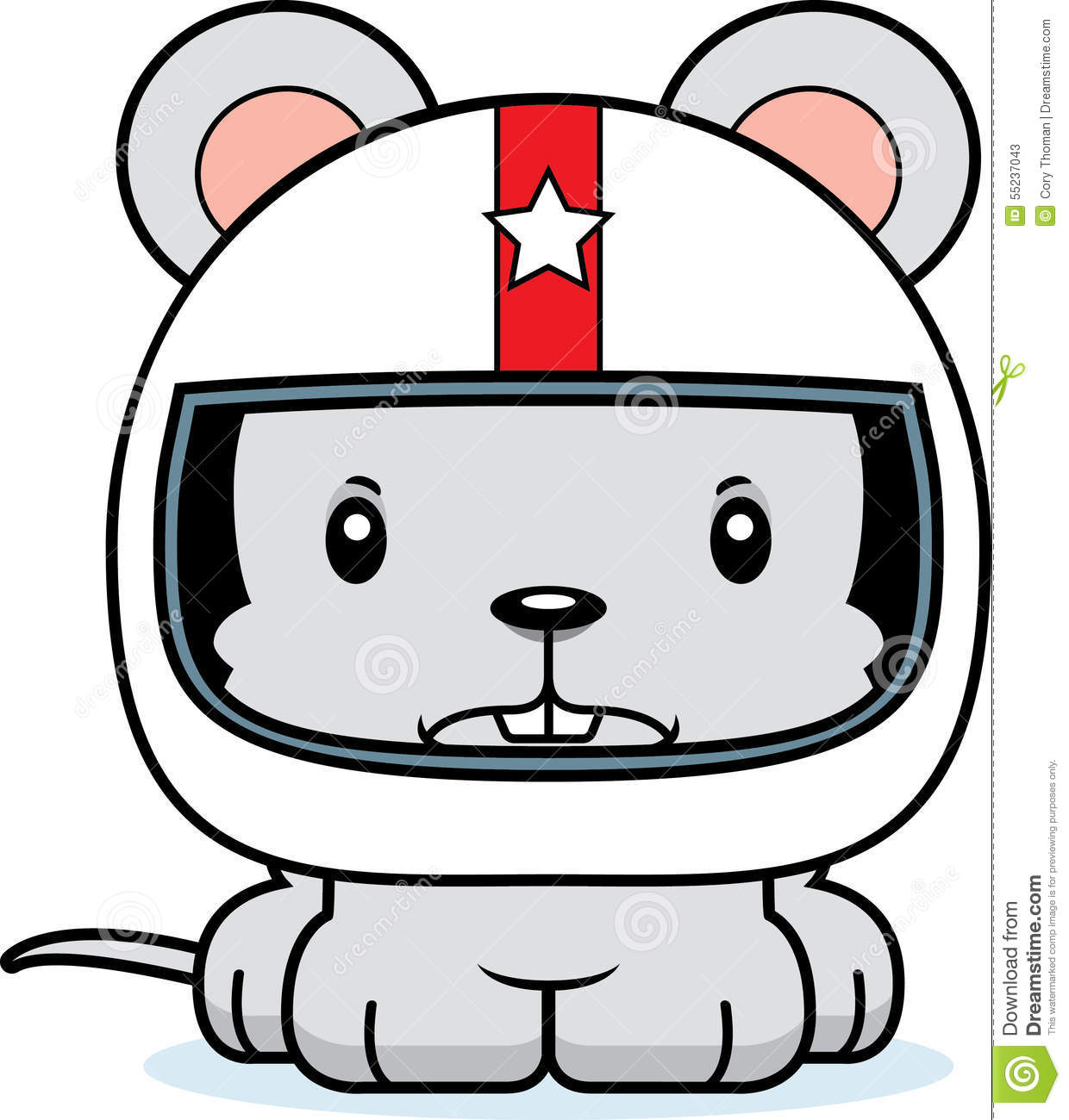 cartoon angry race car driver mouse stock vector image 55237043