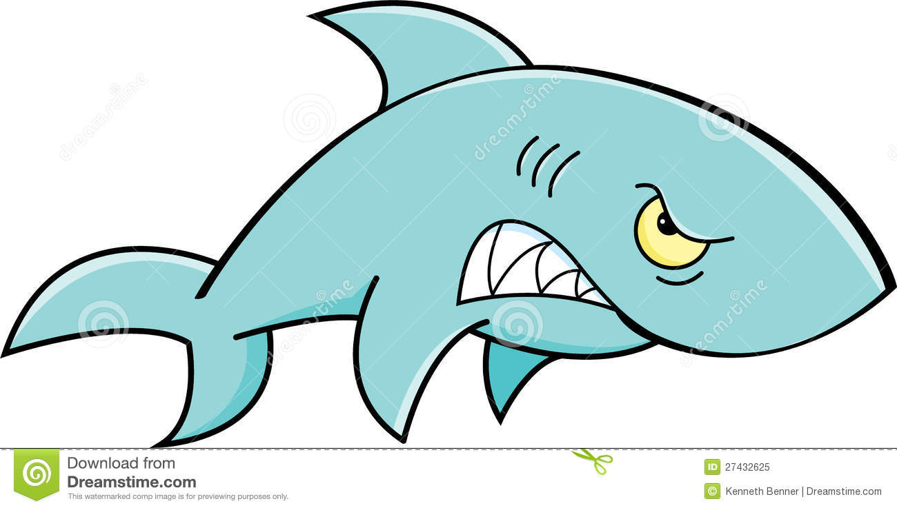 Angry shark clipart - photo#9