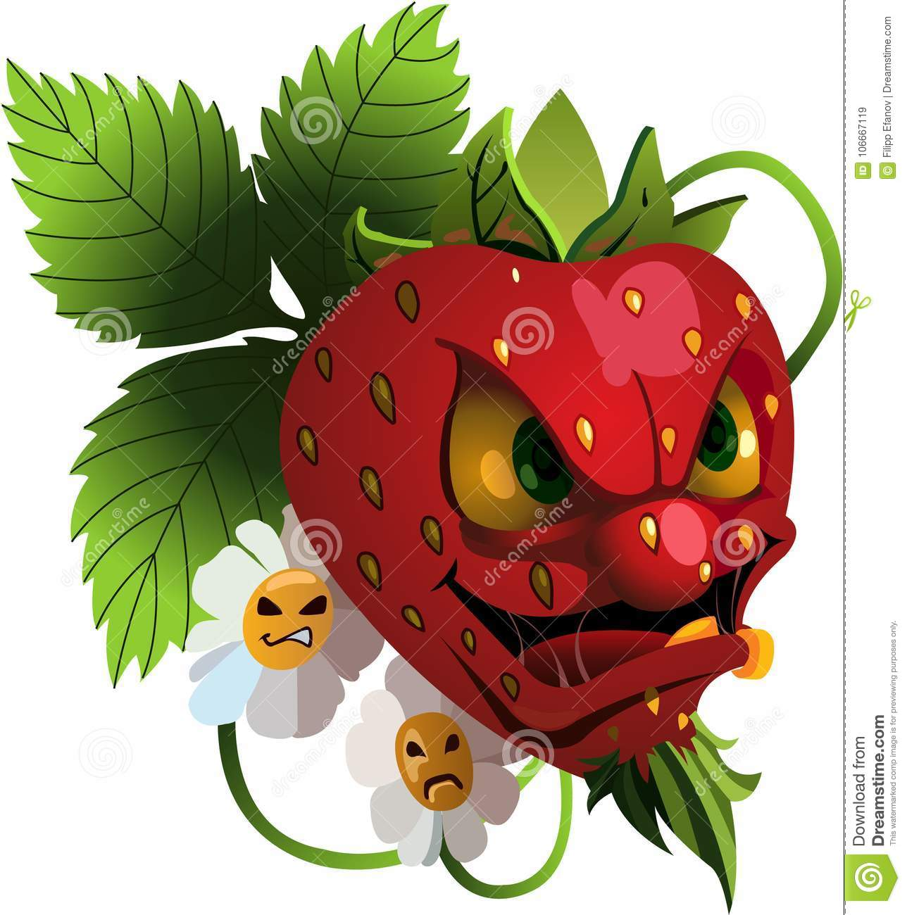 Cartoon Pictures Of Strawberries