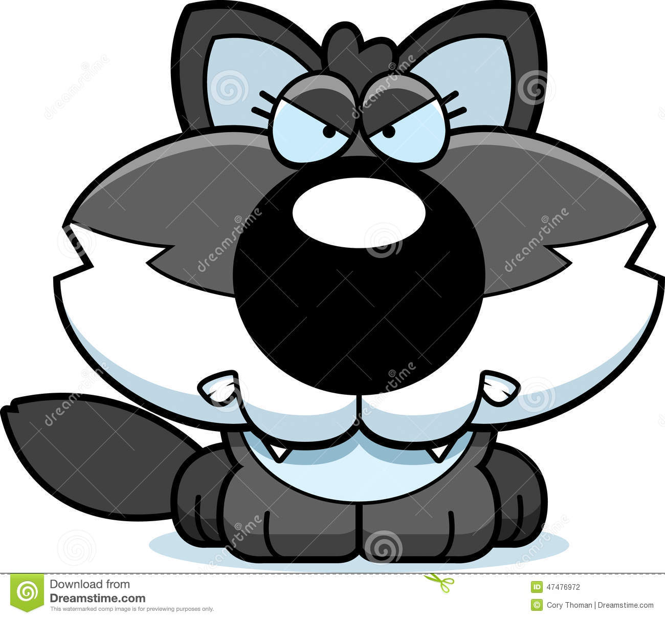 Angry Puppy Cartoon