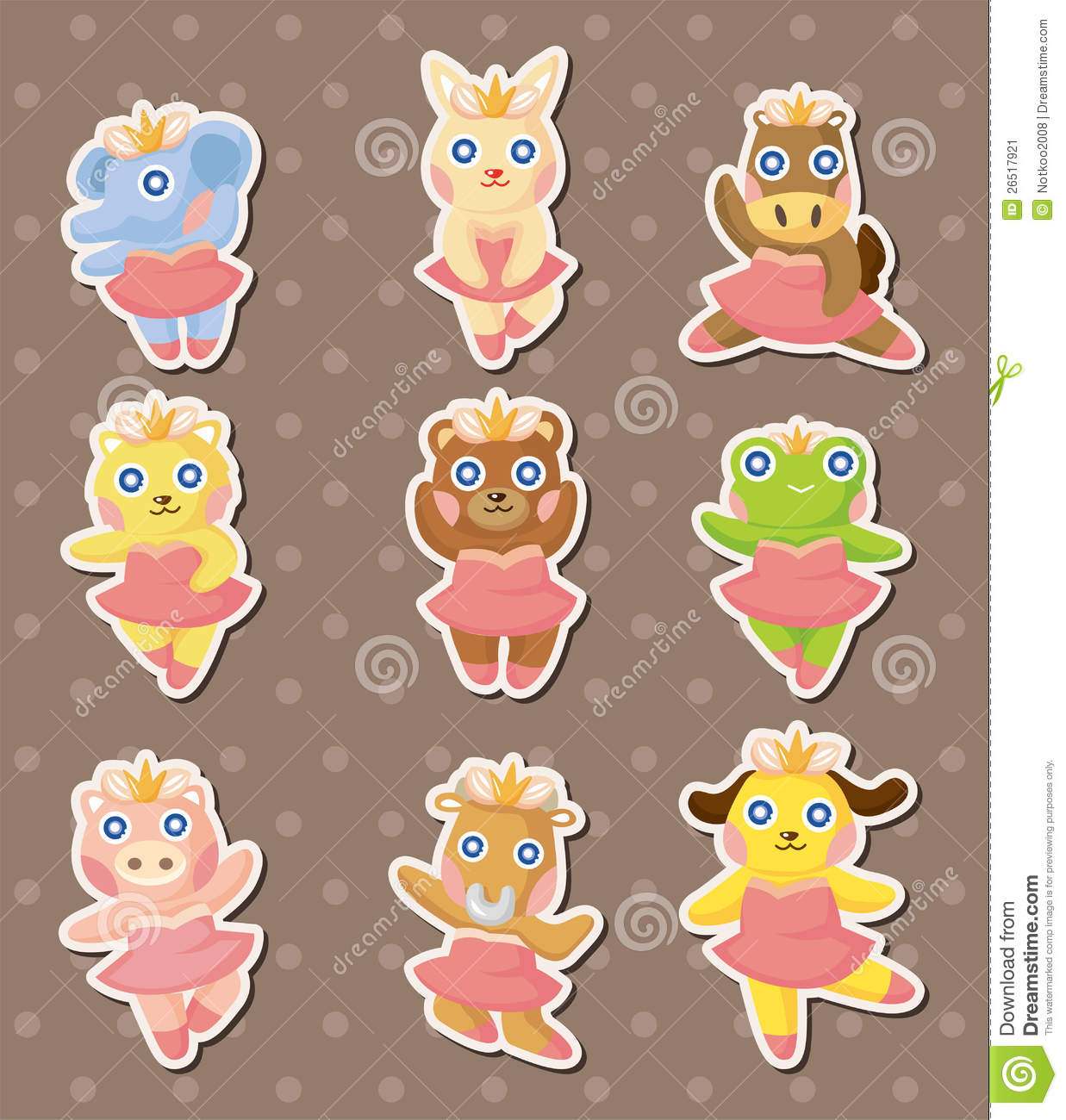 cartoon animal stickers in - photo #24
