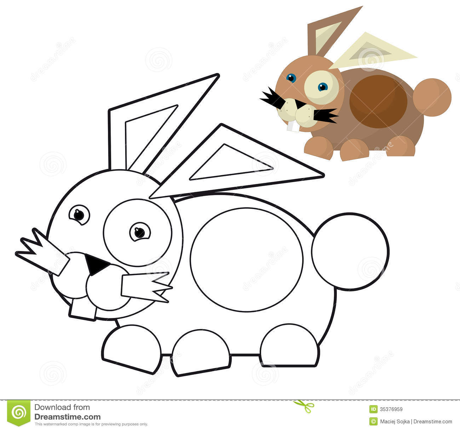 cartoon animal coloring page illustration for the children stock illustration illustration. Black Bedroom Furniture Sets. Home Design Ideas