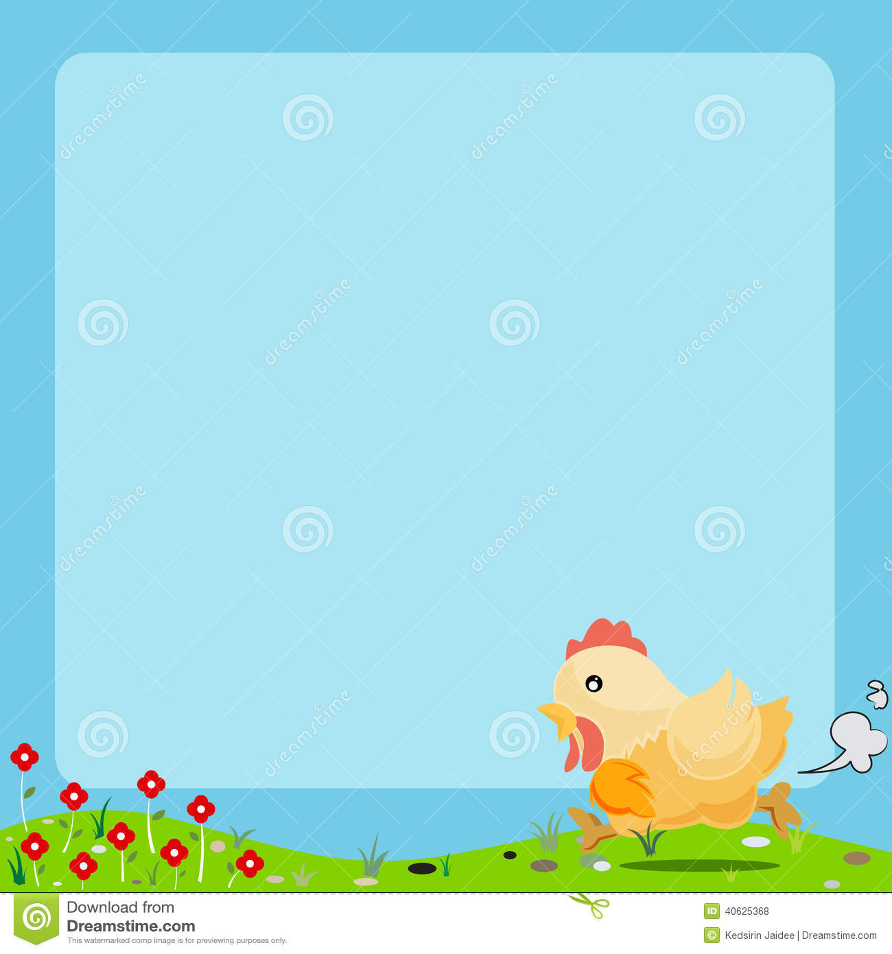 Royalty Free Stock Photos Cartoon Animal Frame Cute Chicken Background Image40625368 on animal farm landscape