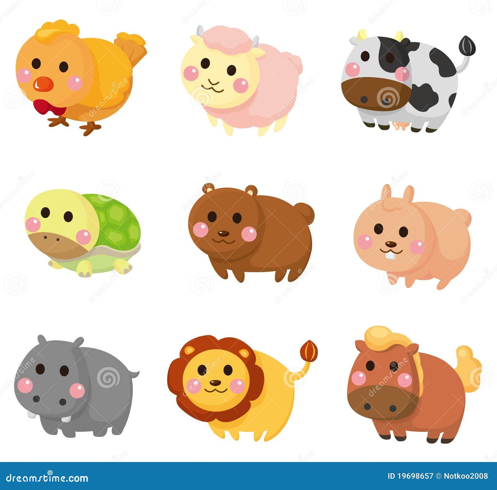 Cartoon Animal Icon Set Royalty Free Stock Photography - Image ...