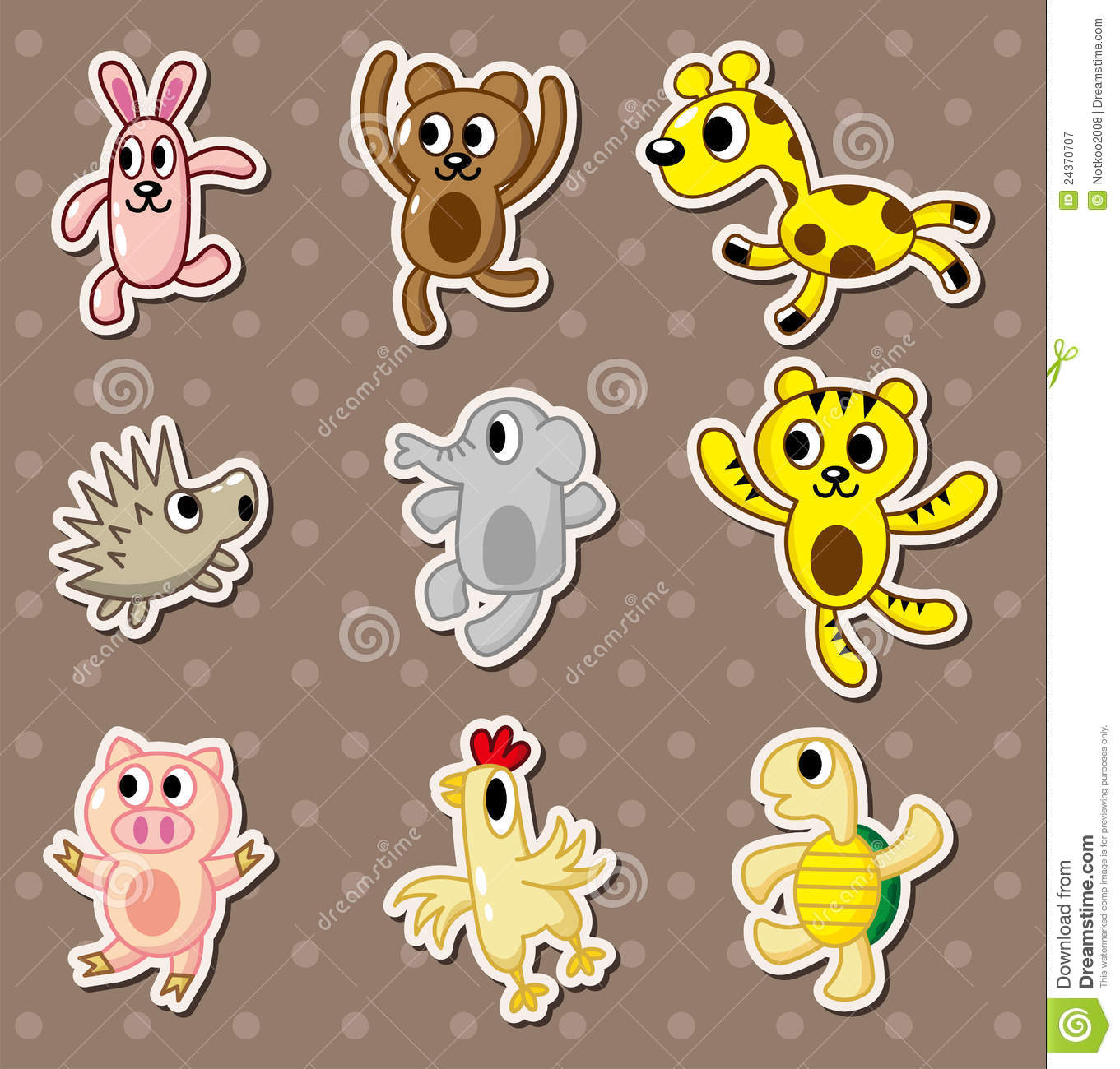 cartoon animal stickers in - photo #2