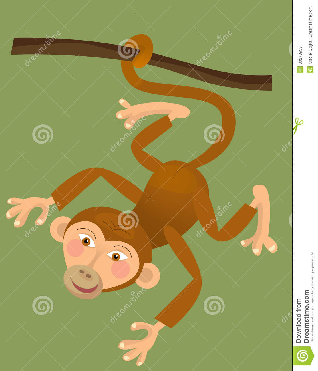cartoon ape monkey illustration for the children royalty free