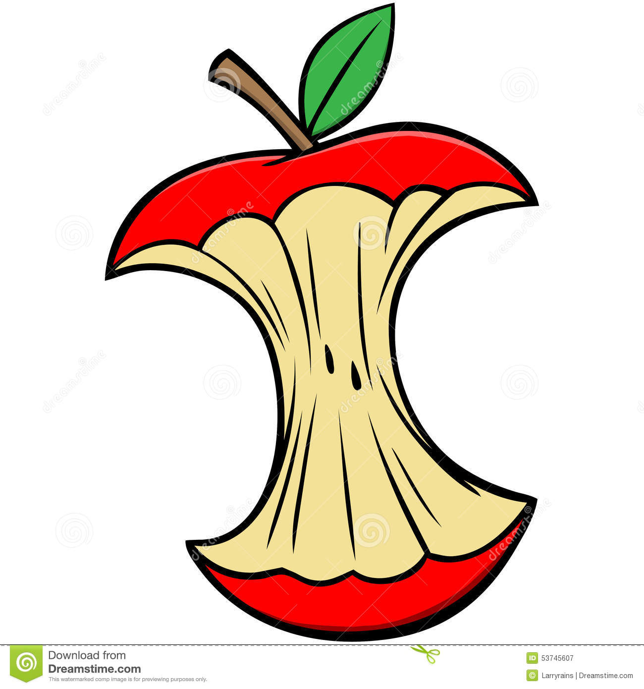 Cartoon Apple Core Stock Vector - Image: 53745607