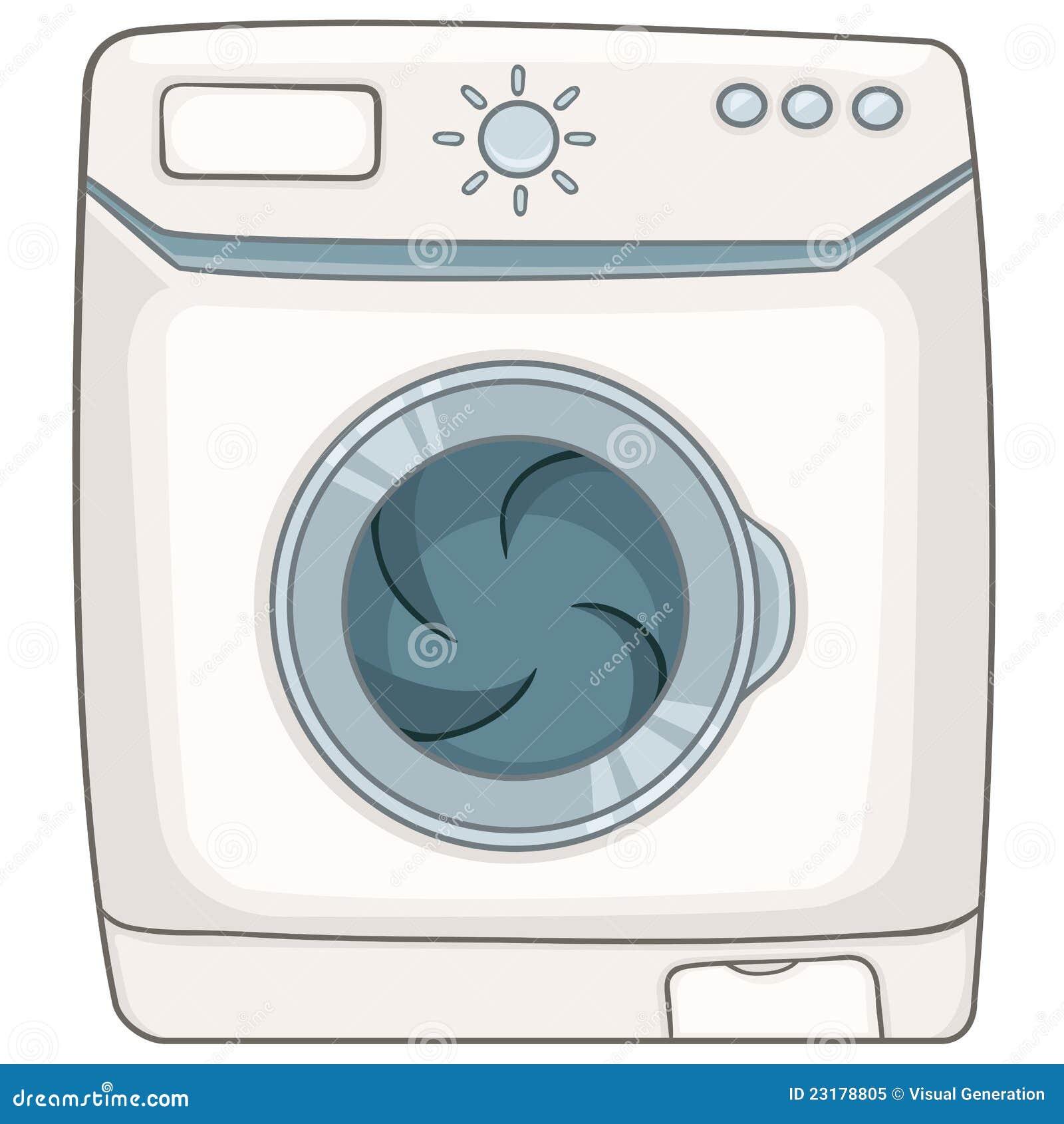 Cartoon Washing Machine ~ Cartoon appliences washing machine stock vector
