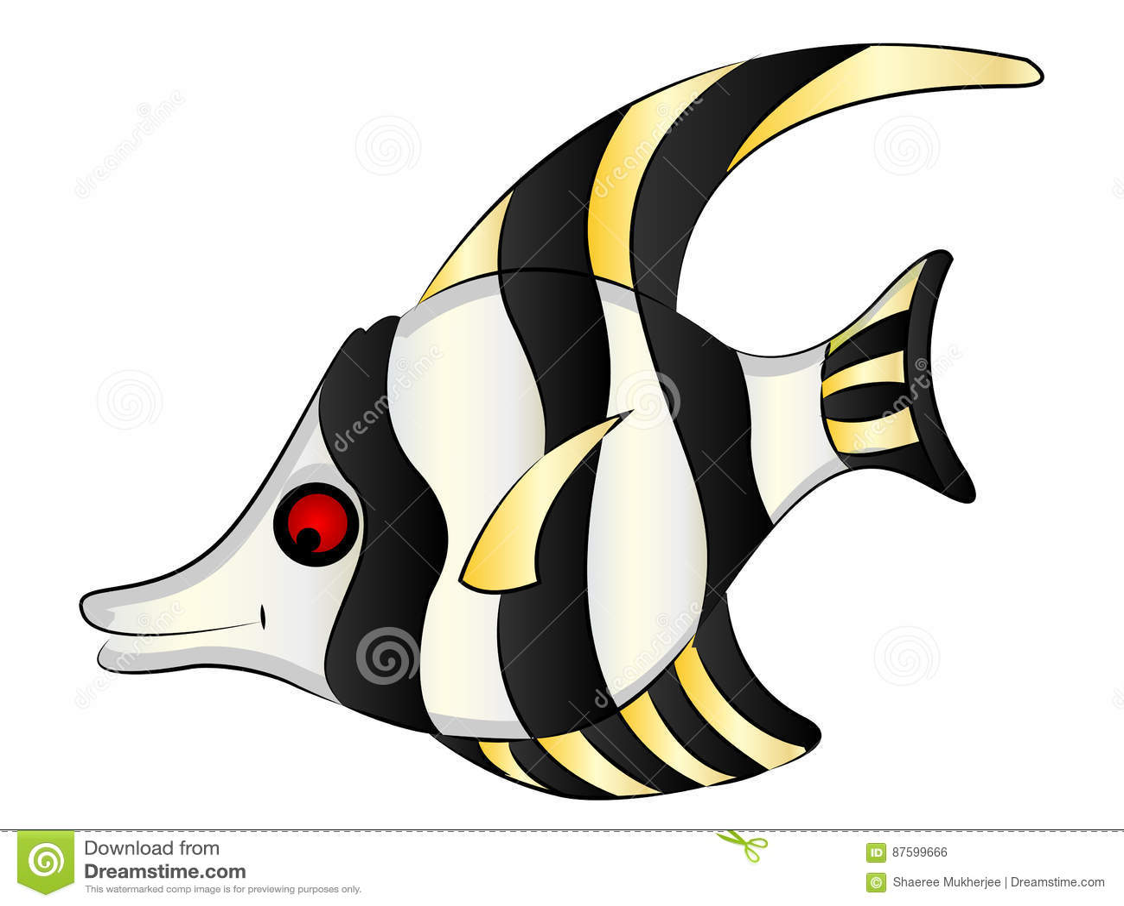 Uncategorized Cartoon Angel Fish cartoon aquarium angel fish stock vector image 87599666 royalty free download fish