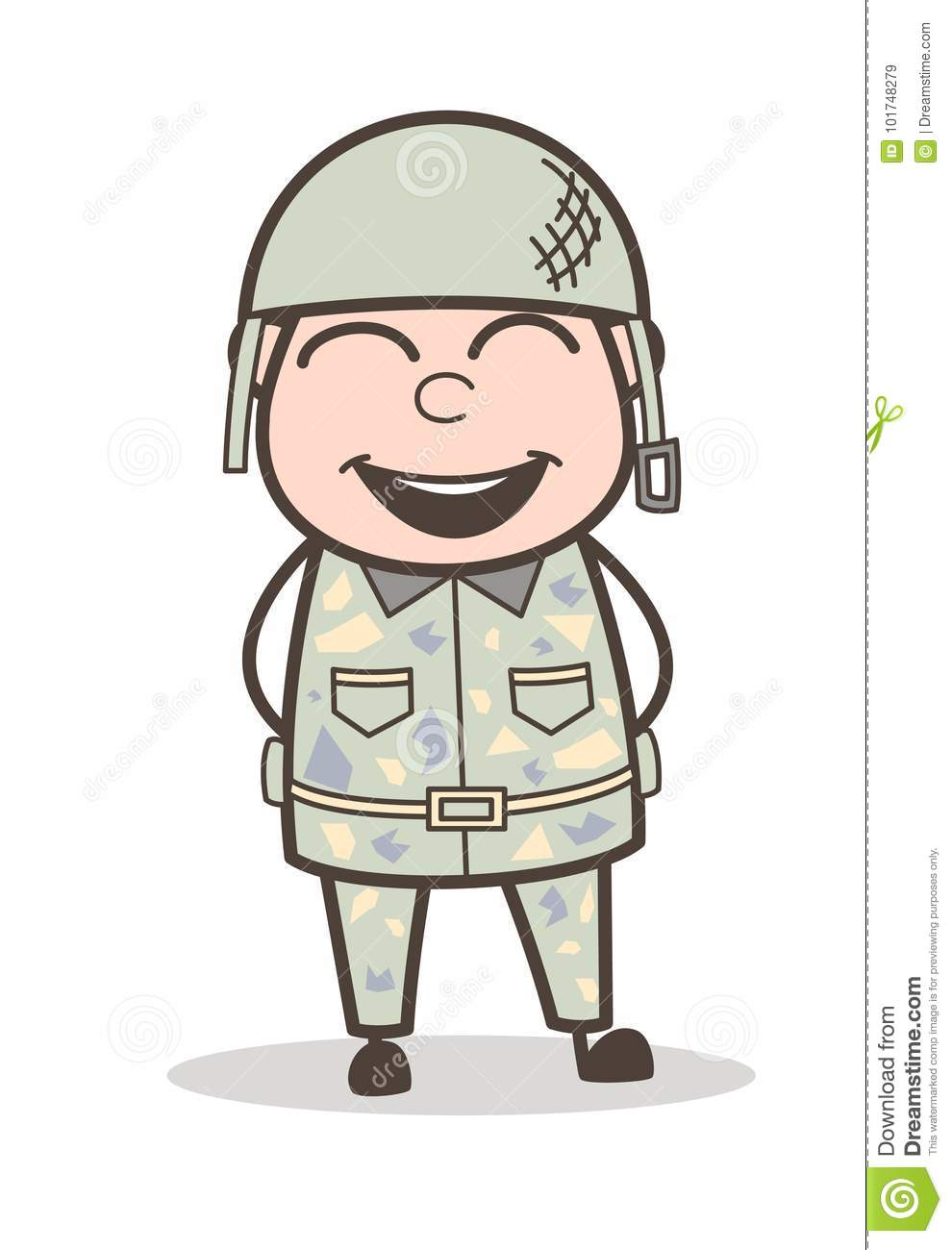 Image result for Cartoon smiling sergeant images