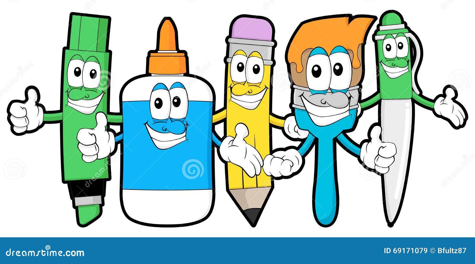 Cartoon Art Supplies Stock Vector - Image: 69171079
