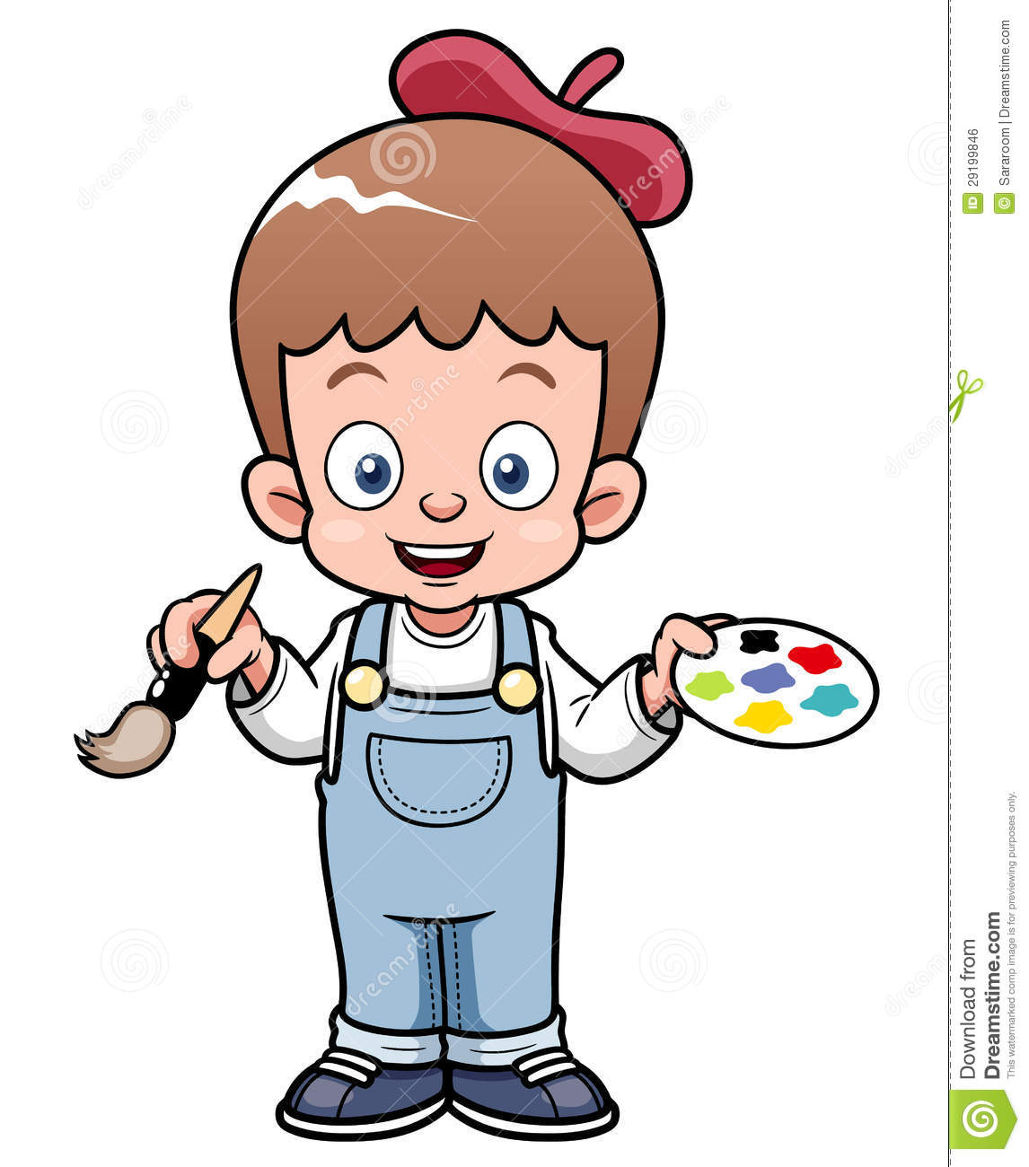 Cartoon Artist Boy Royalty Free Stock Image  Image: 29199846