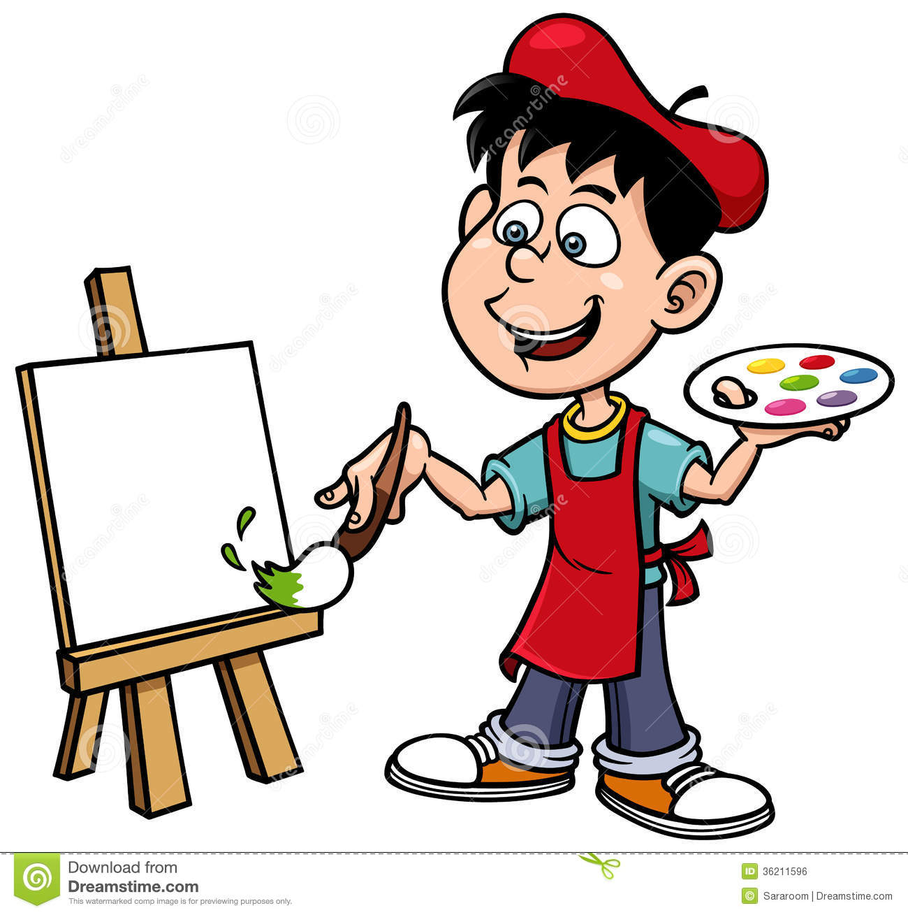 Cartoon Artist Boy Royalty Free Stock Image - Image: 36211596