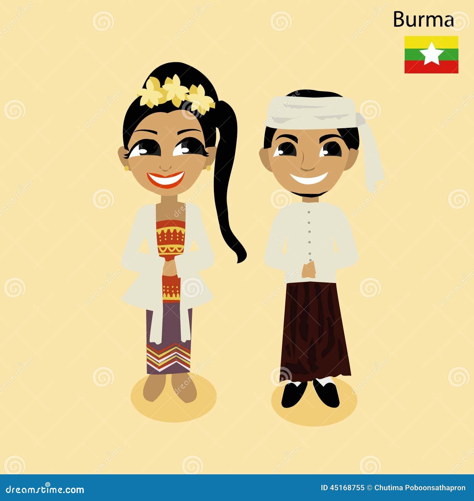 Cartoon ASEAN Burma Stock Vector - Image: 45168755