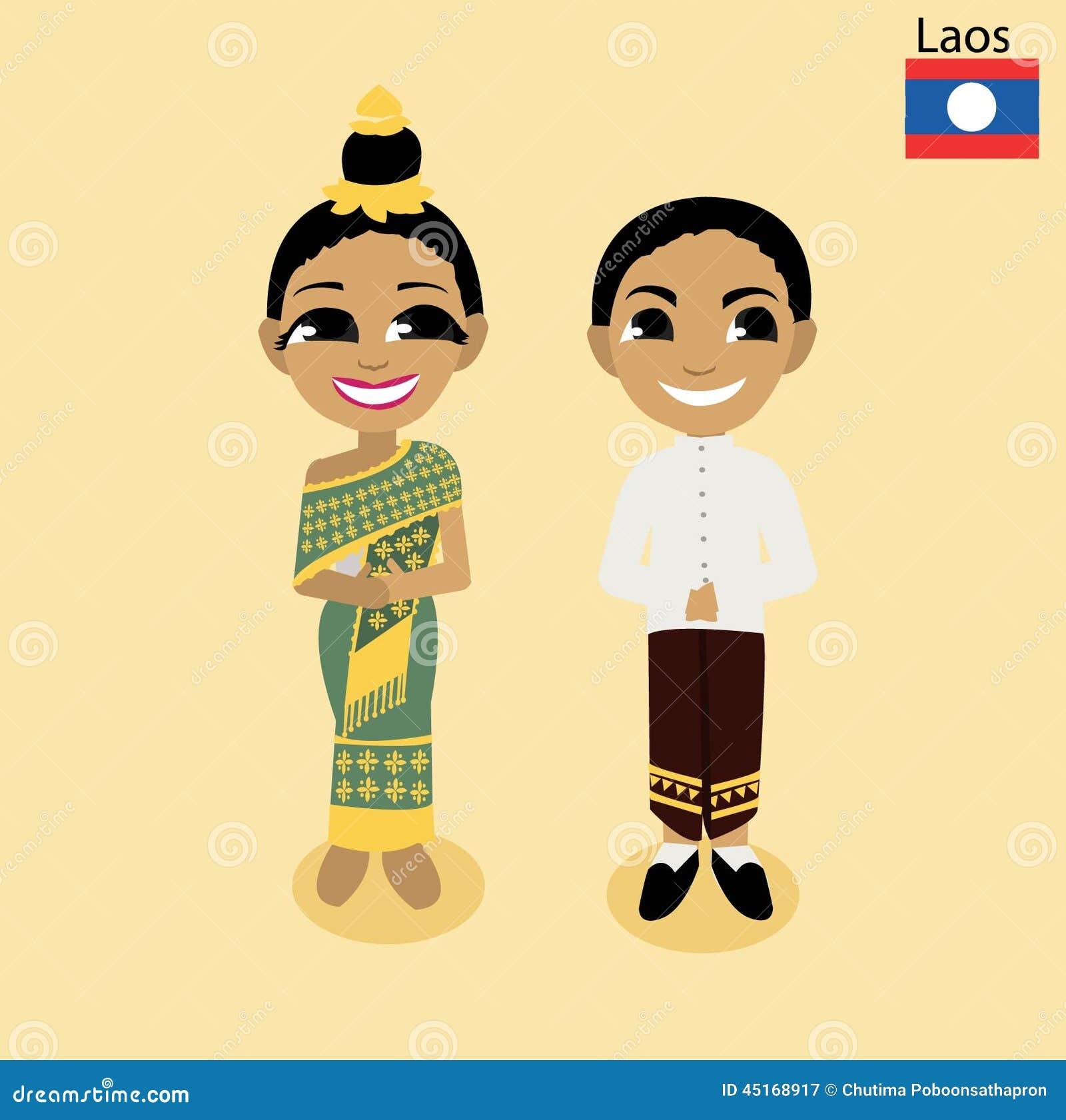 Cartoon Asean Laos Stock Vector Image 45168917