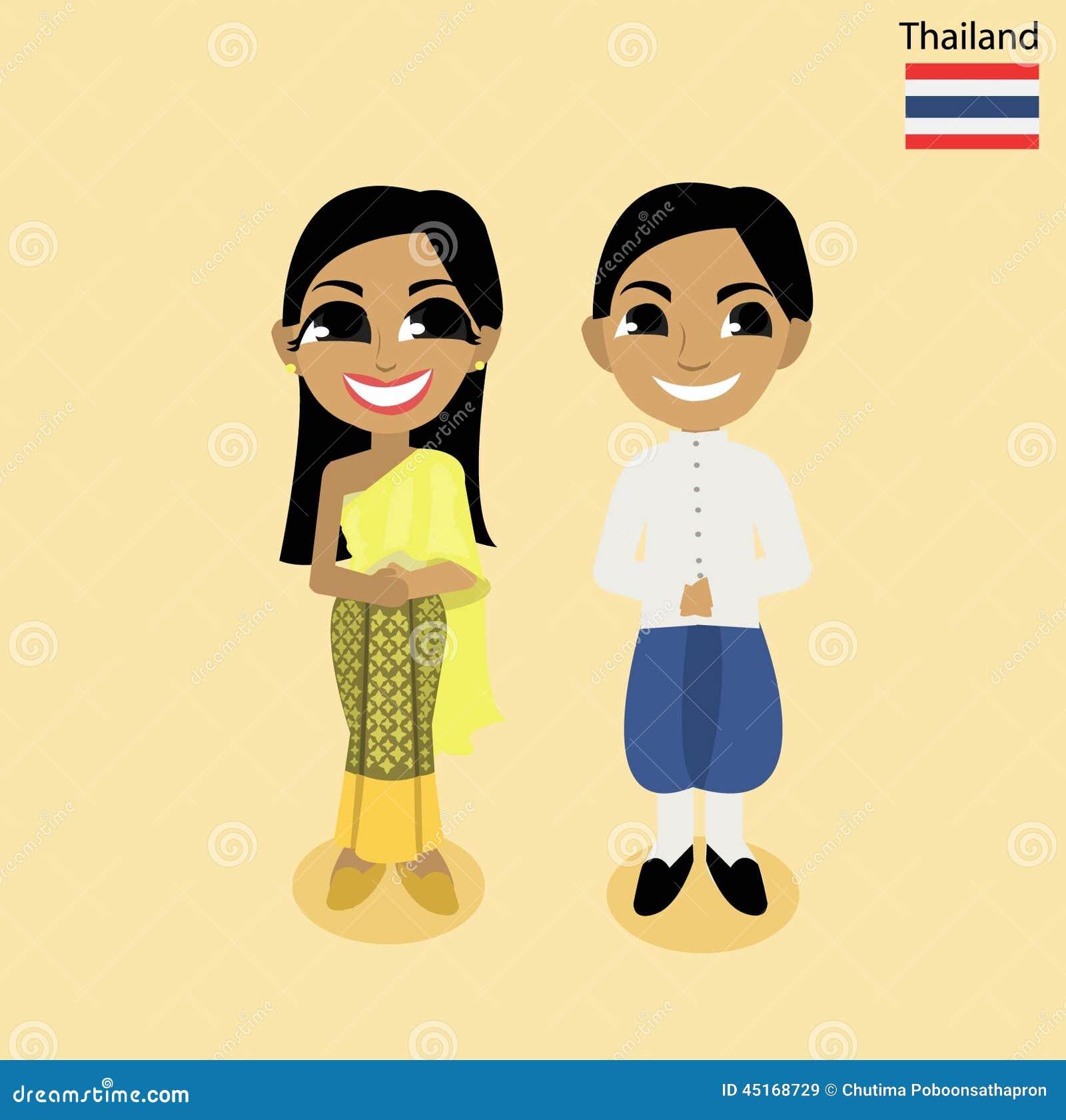 Cartoon Asean Thailand Stock Vector Image 45168729