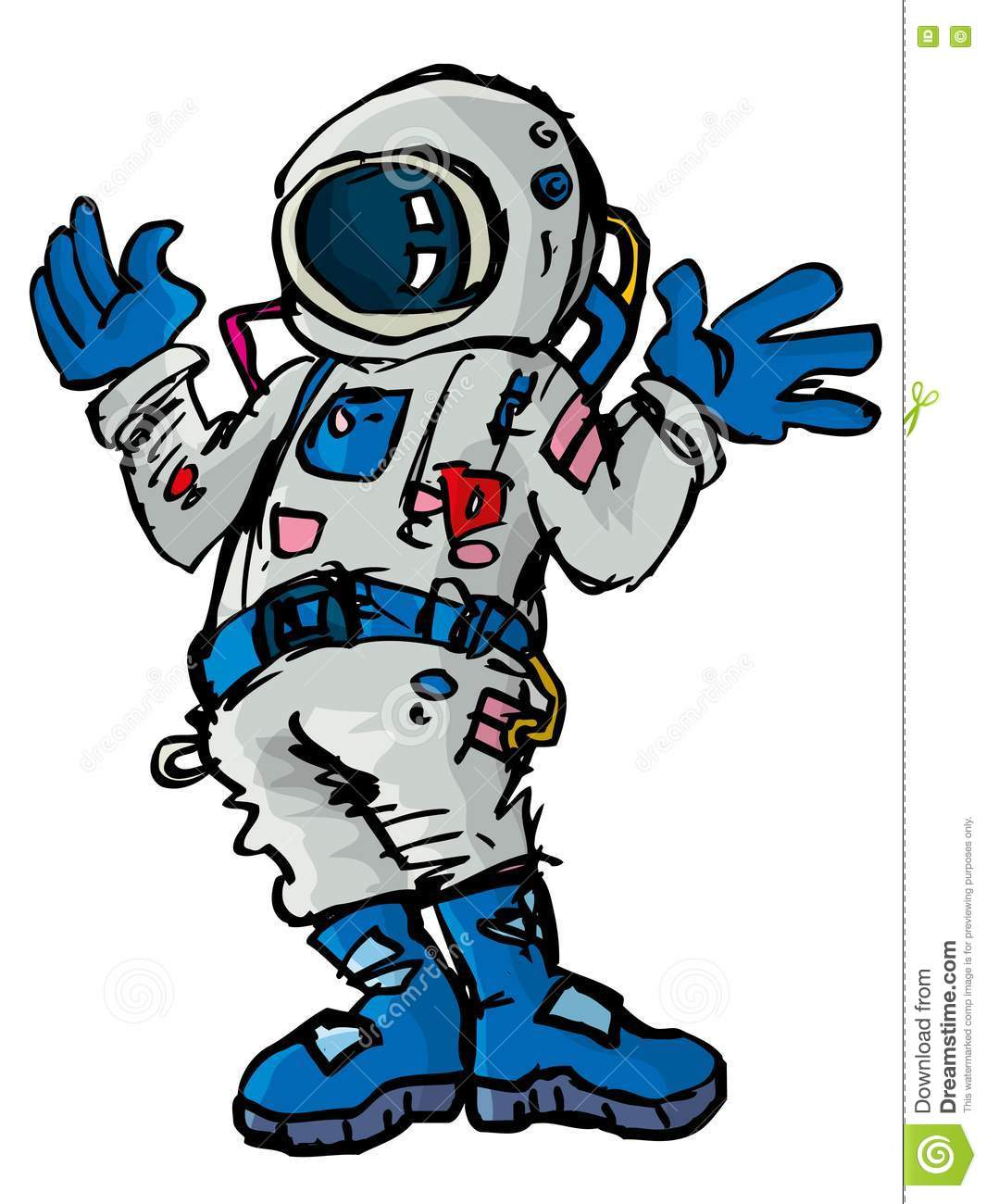 Cartoon Astronaout In A Space Suit Royalty Free Stock ...