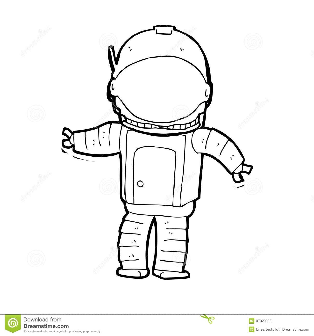 astronaut clip art black and white - photo #28