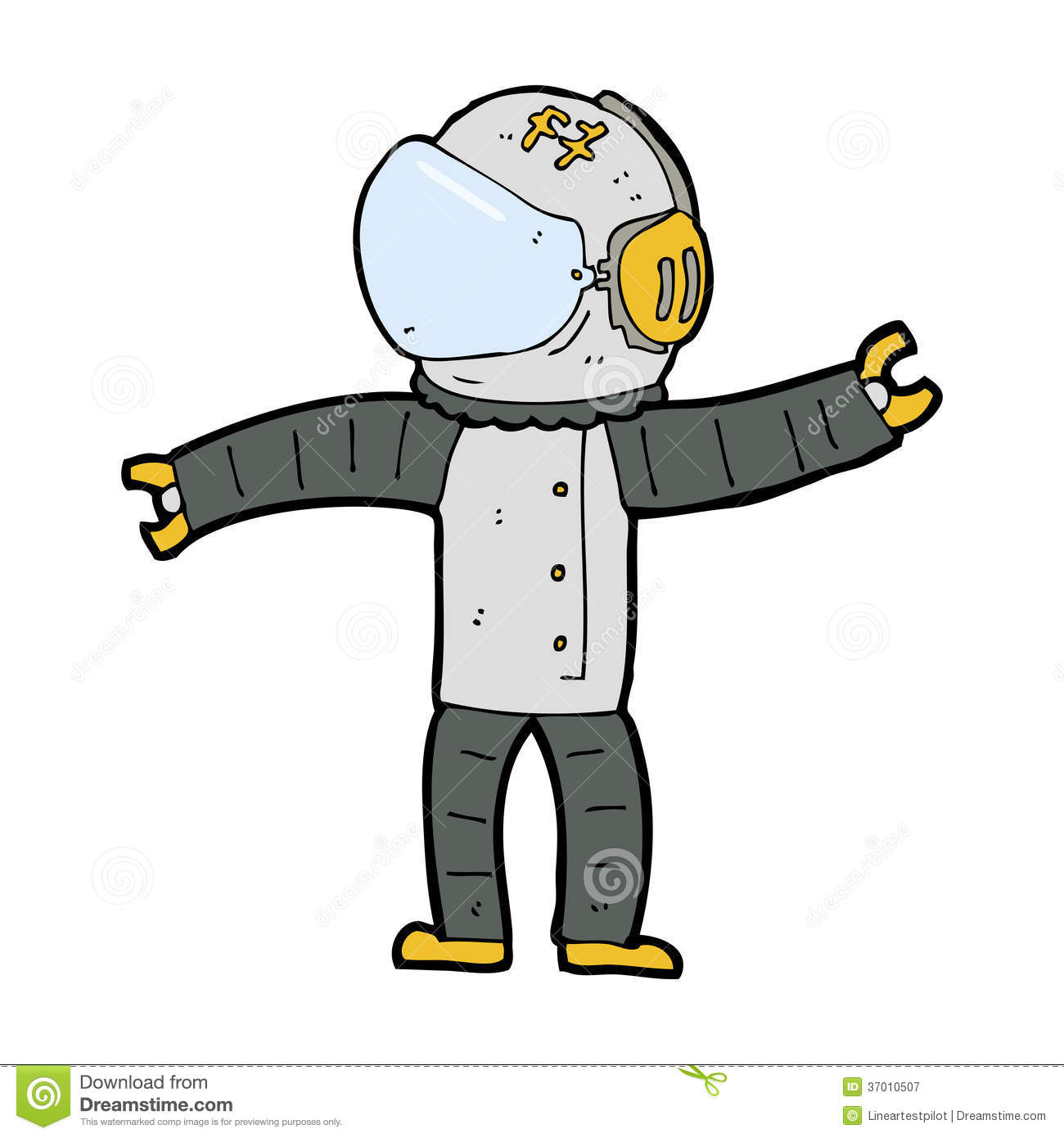 Cartoon Astronaut Royalty Free Stock Photography - Image: 37010507