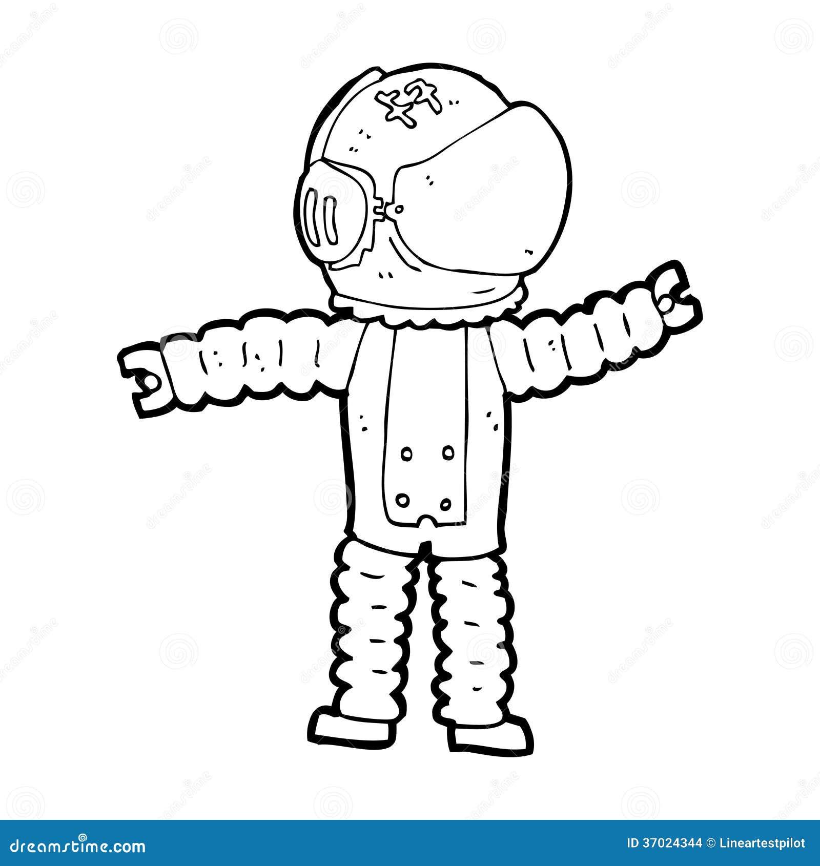 Cartoon Astronaut Reaching Stock Images - Image: 37024344