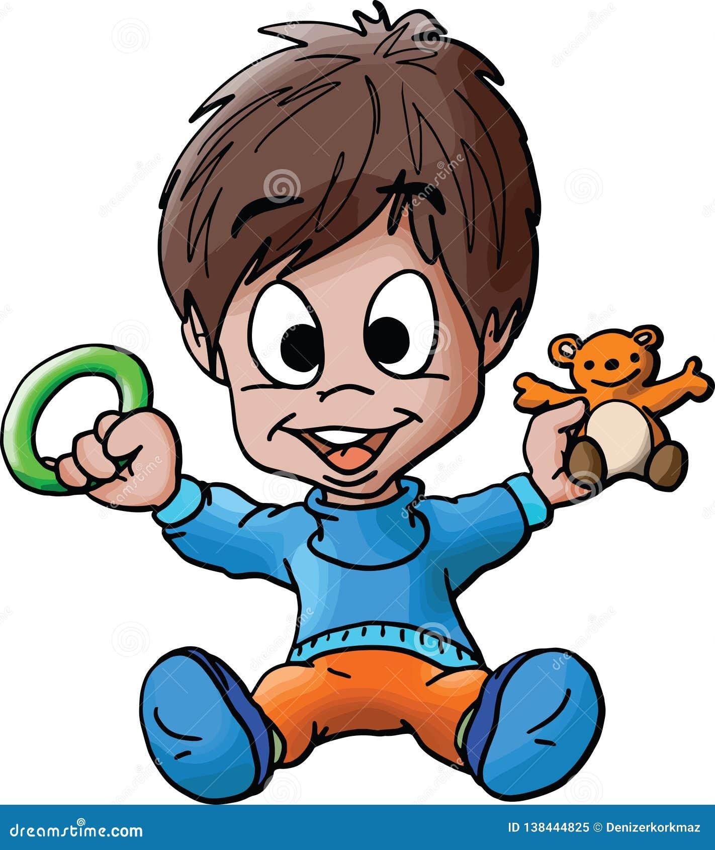 e5bb6eccfe9a Cartoon Baby Boy Toys Stock Illustrations – 3