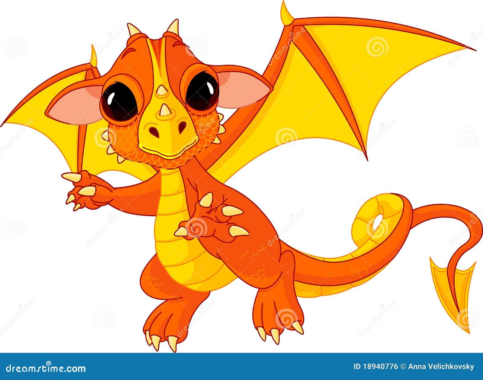 Cartoon dragon vector illustration cartoondealer