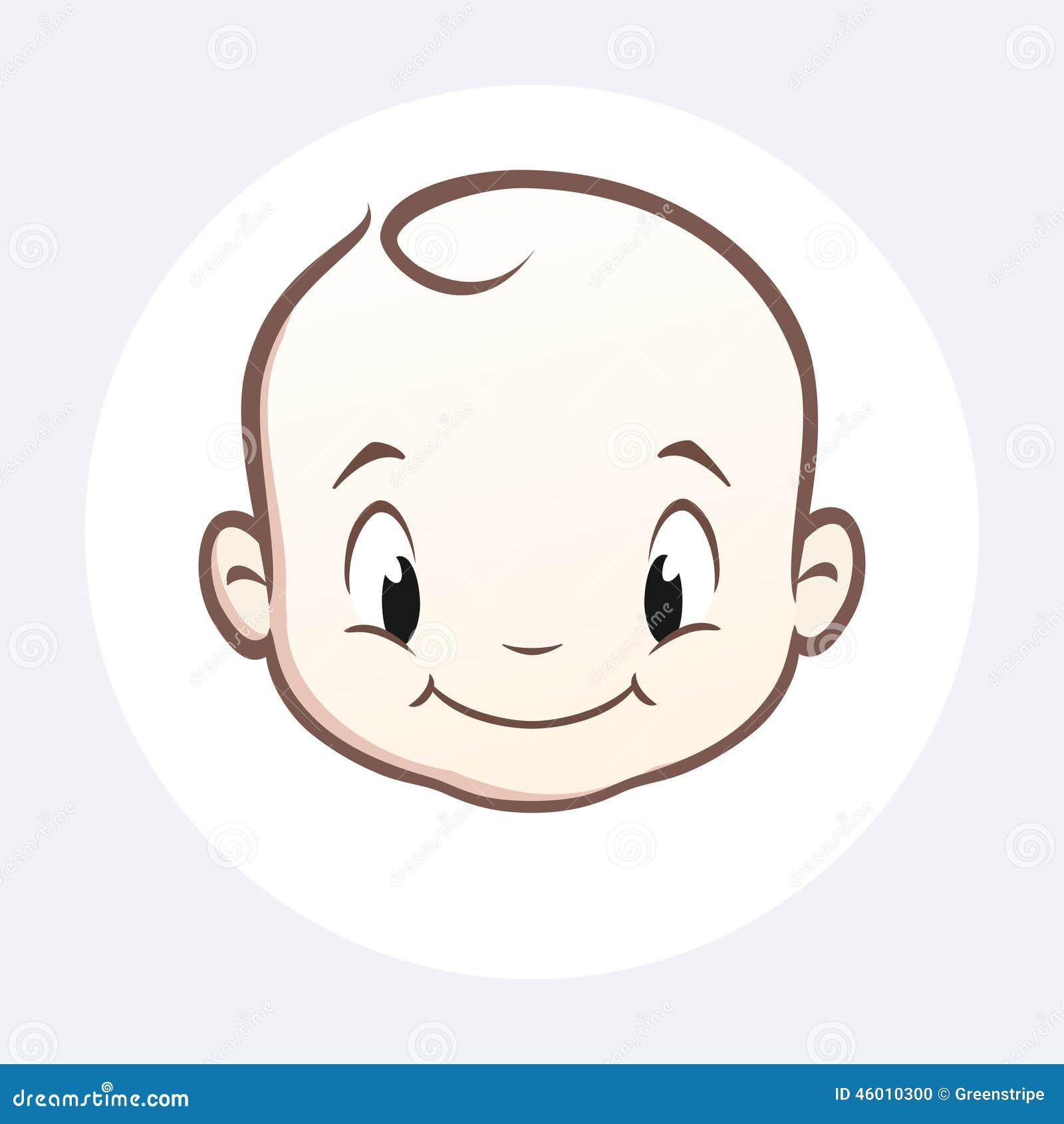 Cartoon Baby Face Stock Vector - Image: 46010300