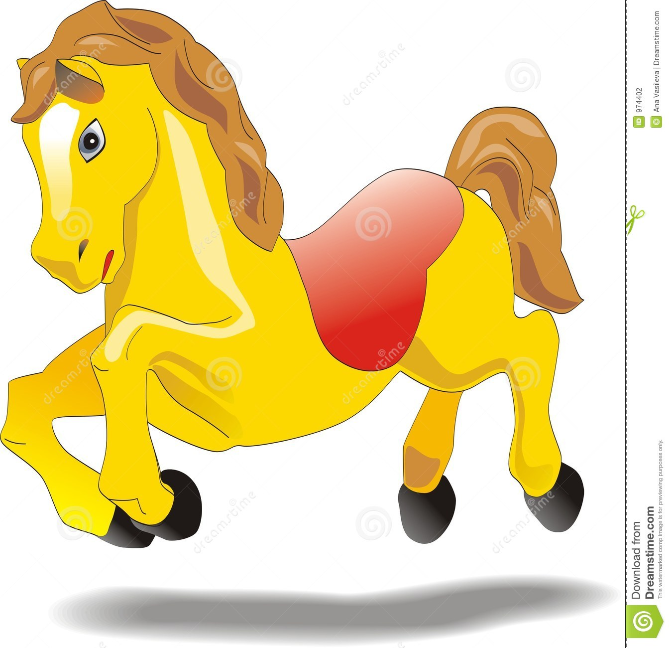 Cartoon Baby Horse Animation Character Stock Vector Illustration Of Baby Headlong 974402