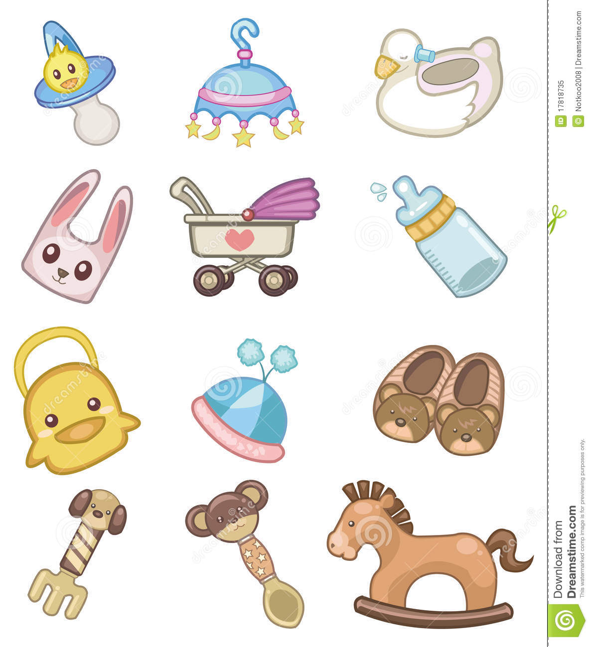 Cartoon Baby Icon Royalty Free Stock Photo  Image: 17818735