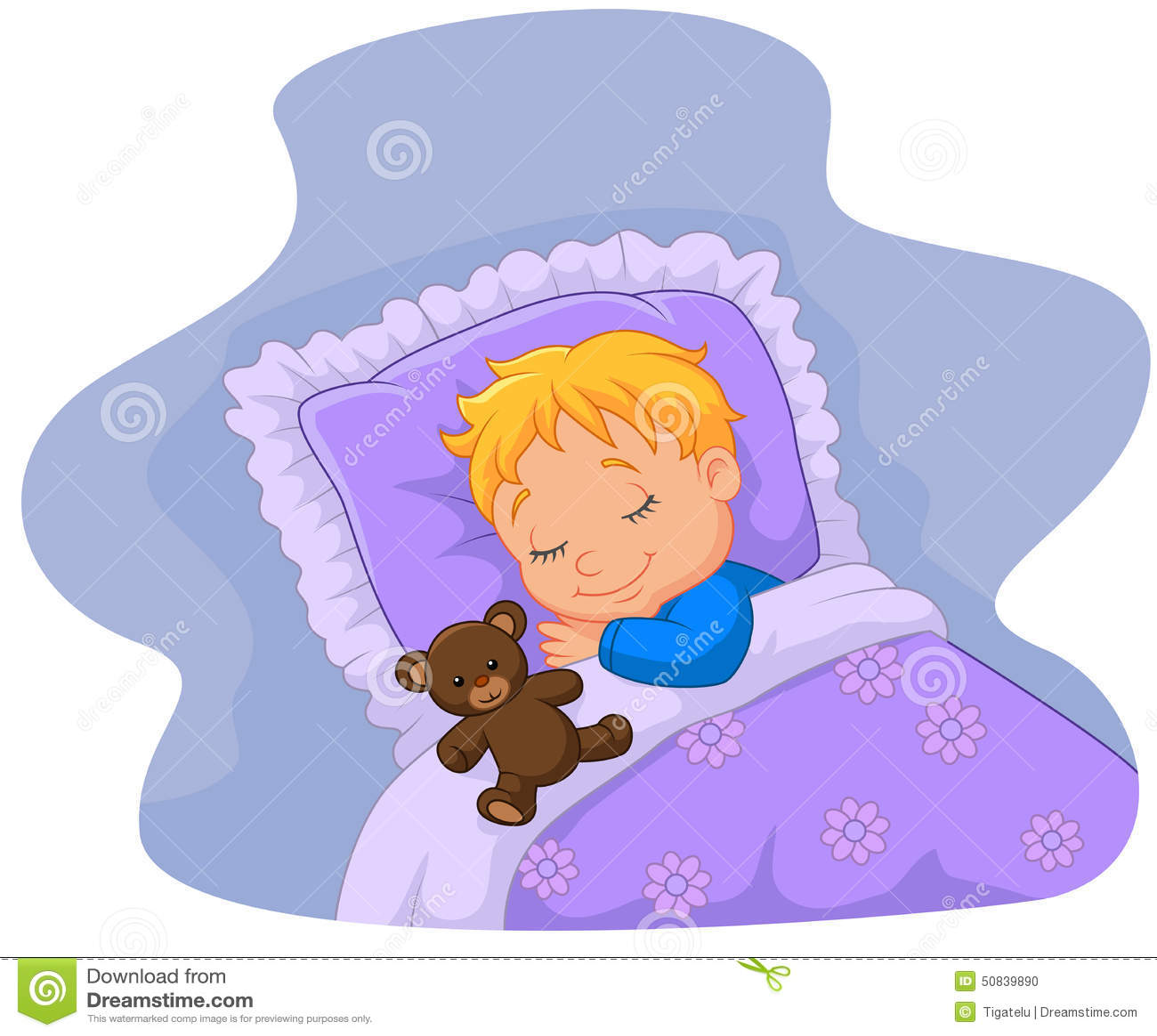 Cartoon Baby Sleeping With Teddy Bear Stock Vector ... - photo#6